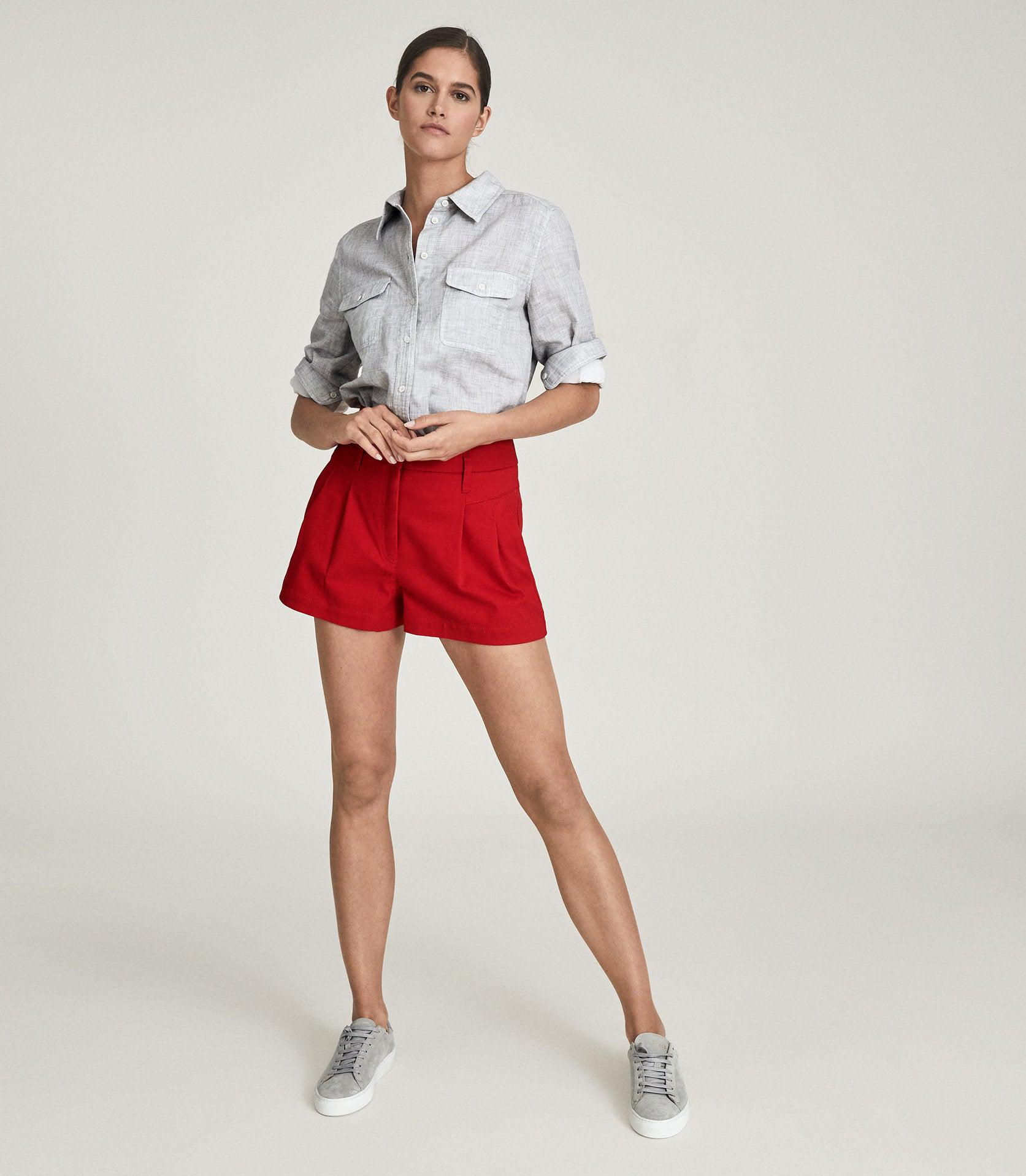 APRIL - PLEAT FRONT TAILORED SHORTS