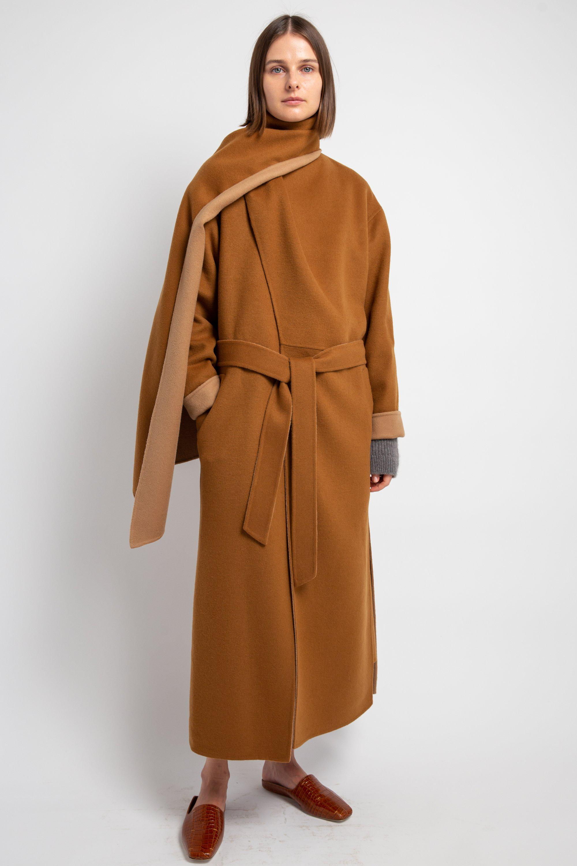 Double-Faced Scarf Coat