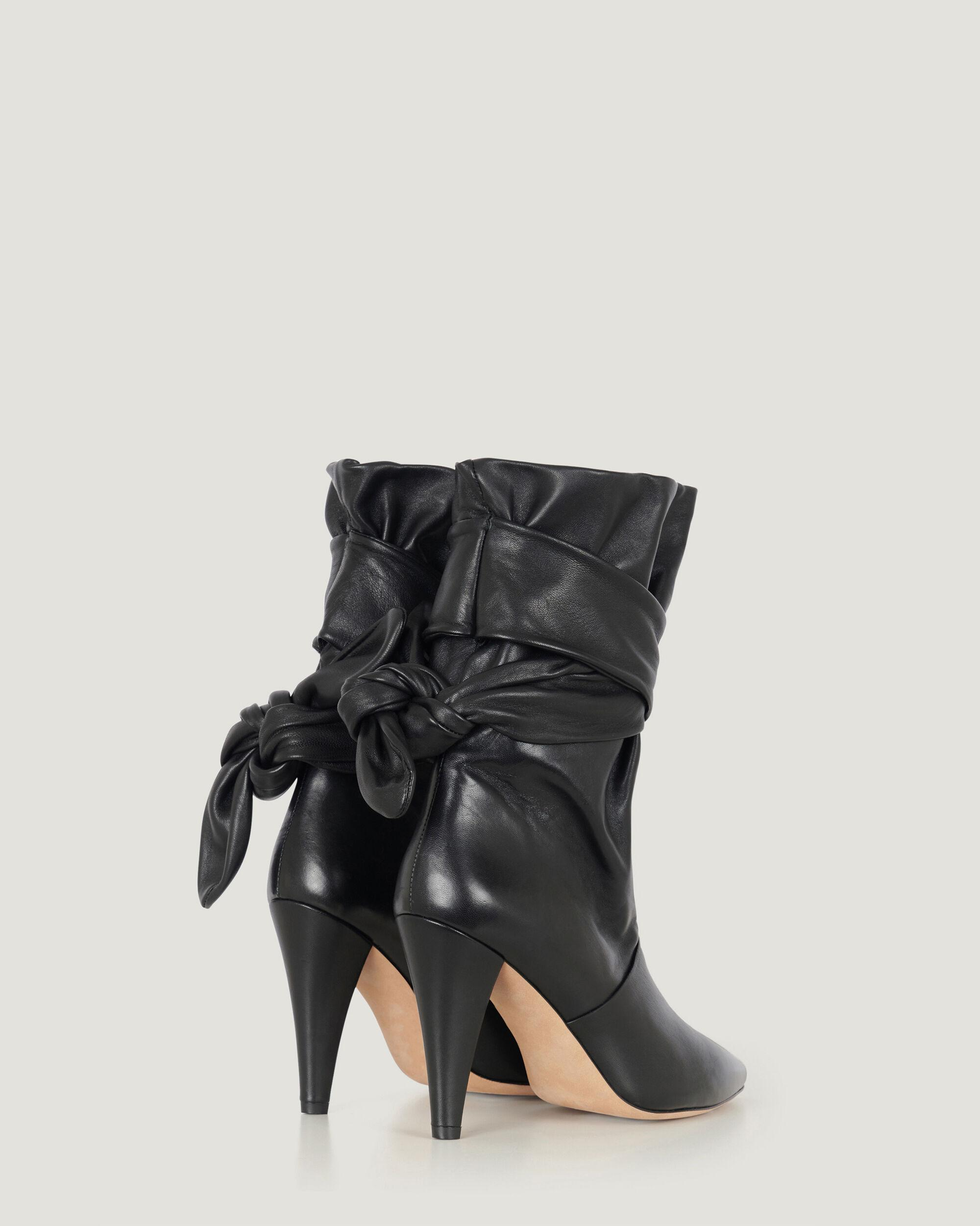 NORI ANKLE TIE POINTED LEATHER BOOTIE 2