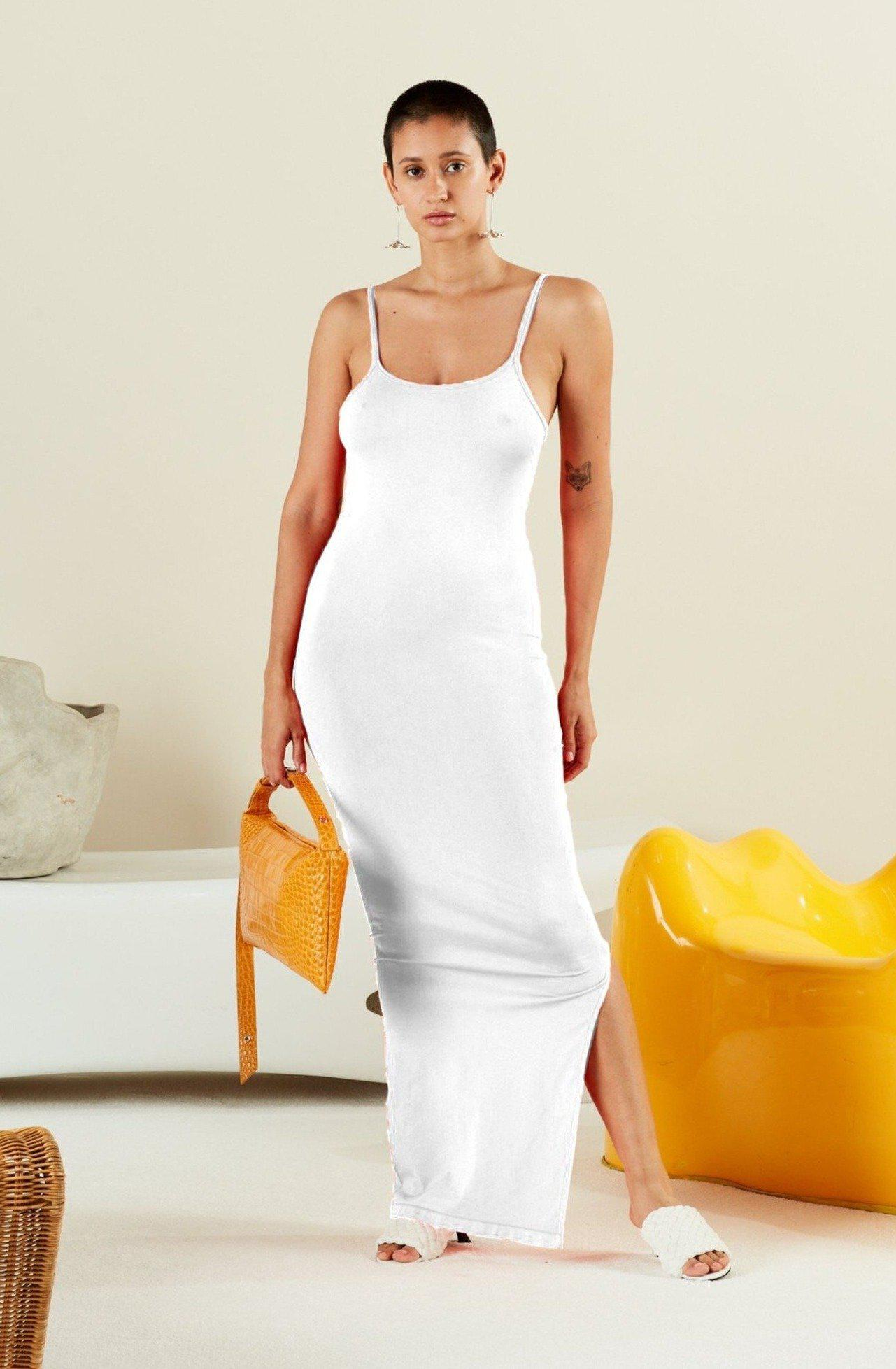 STRETCH Anders Dress in White