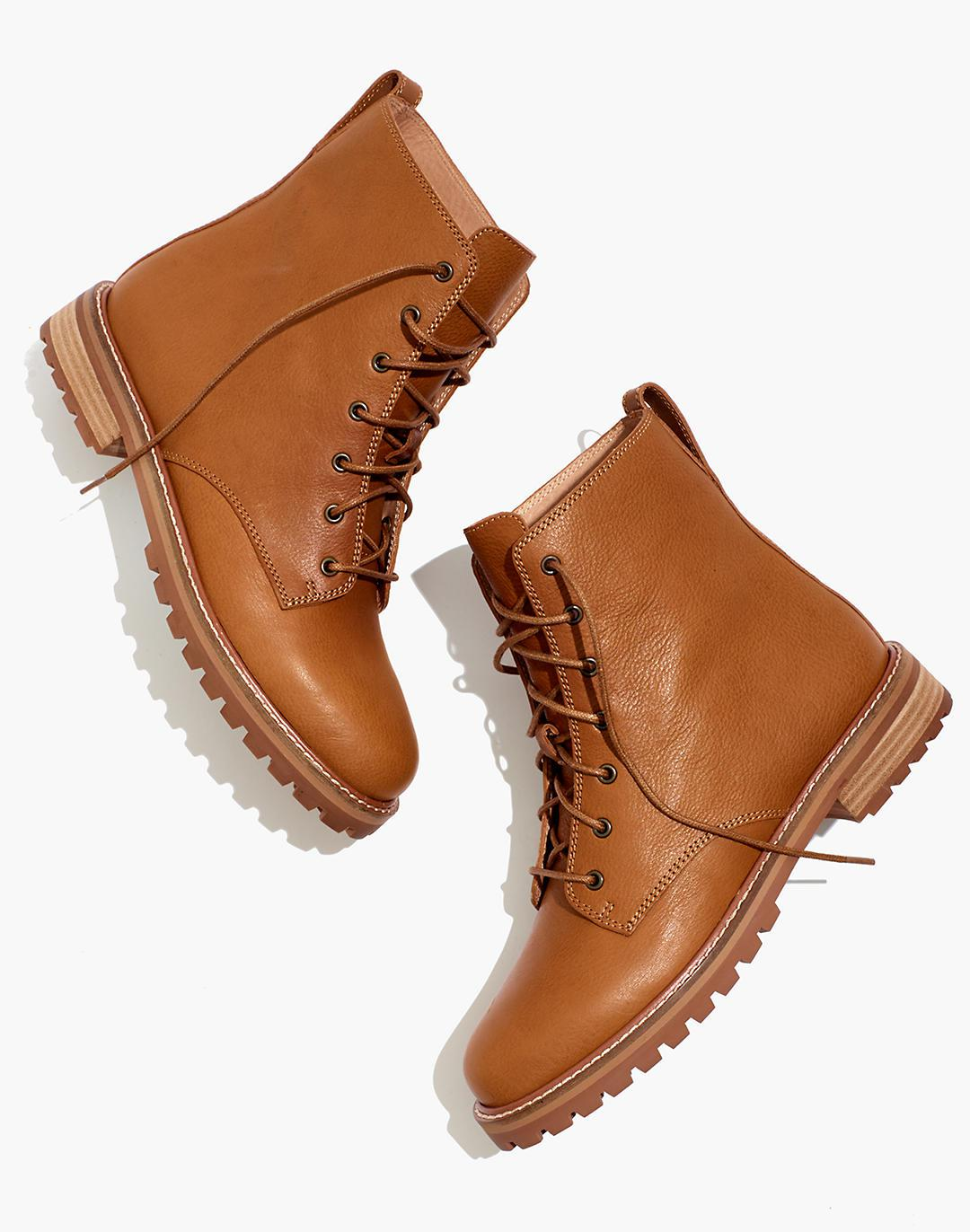 The Clair Lace-Up Boot in Leather