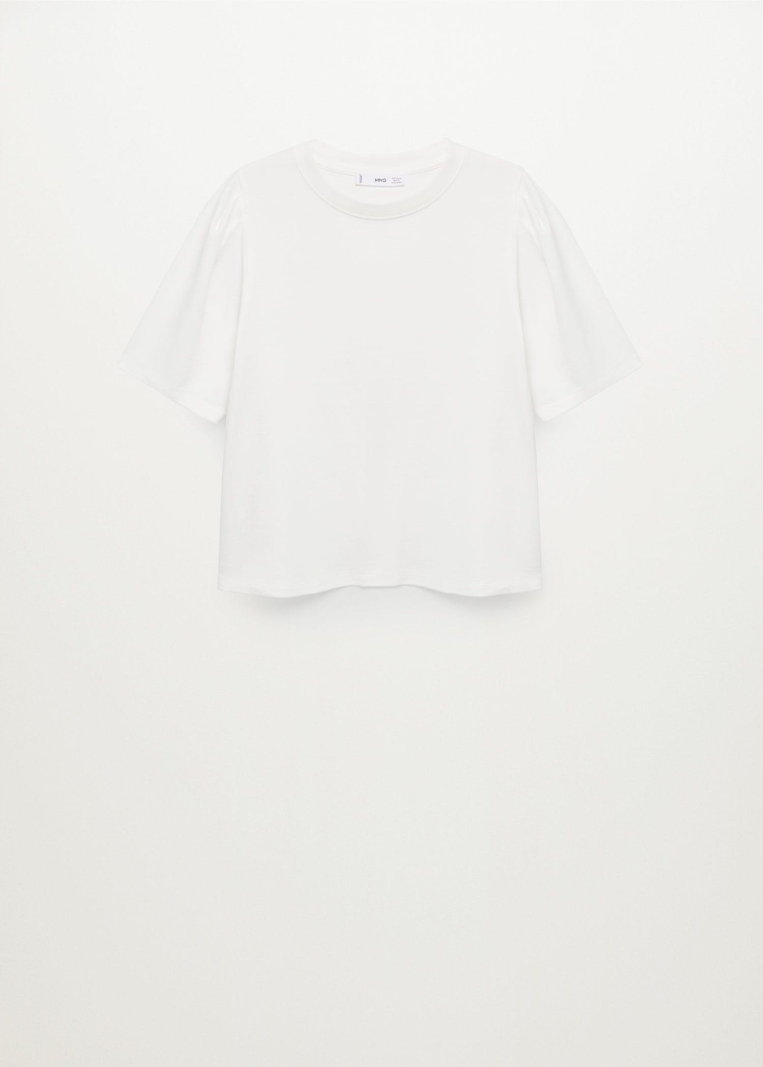 Cotton t-shirt with puffed sleeves 7