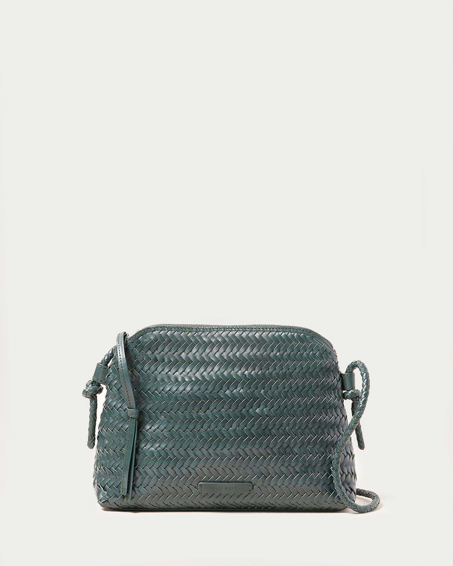 Mallory Forest Woven Crossbody