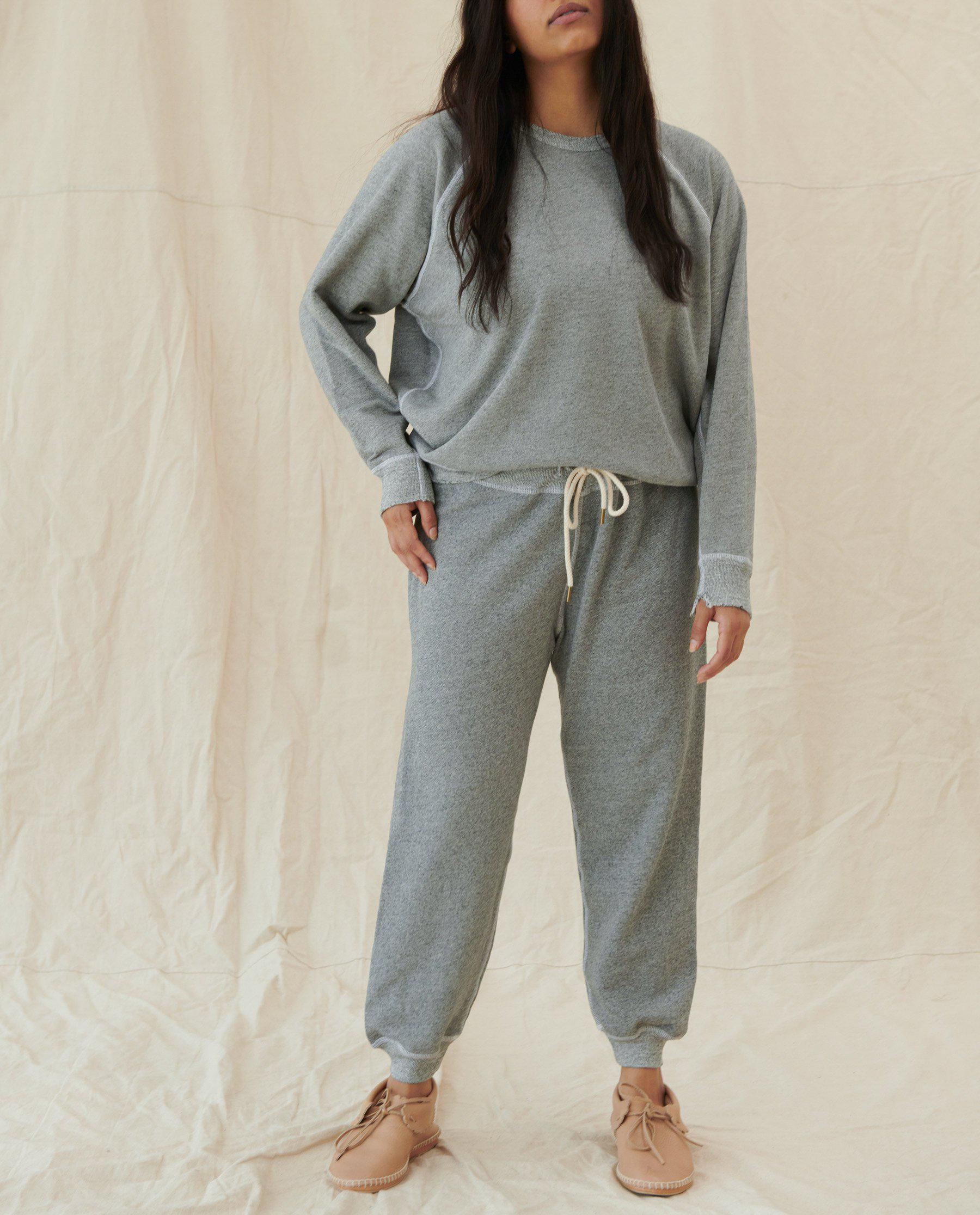The Cropped Sweatpant. Solid -- Varsity Grey 2