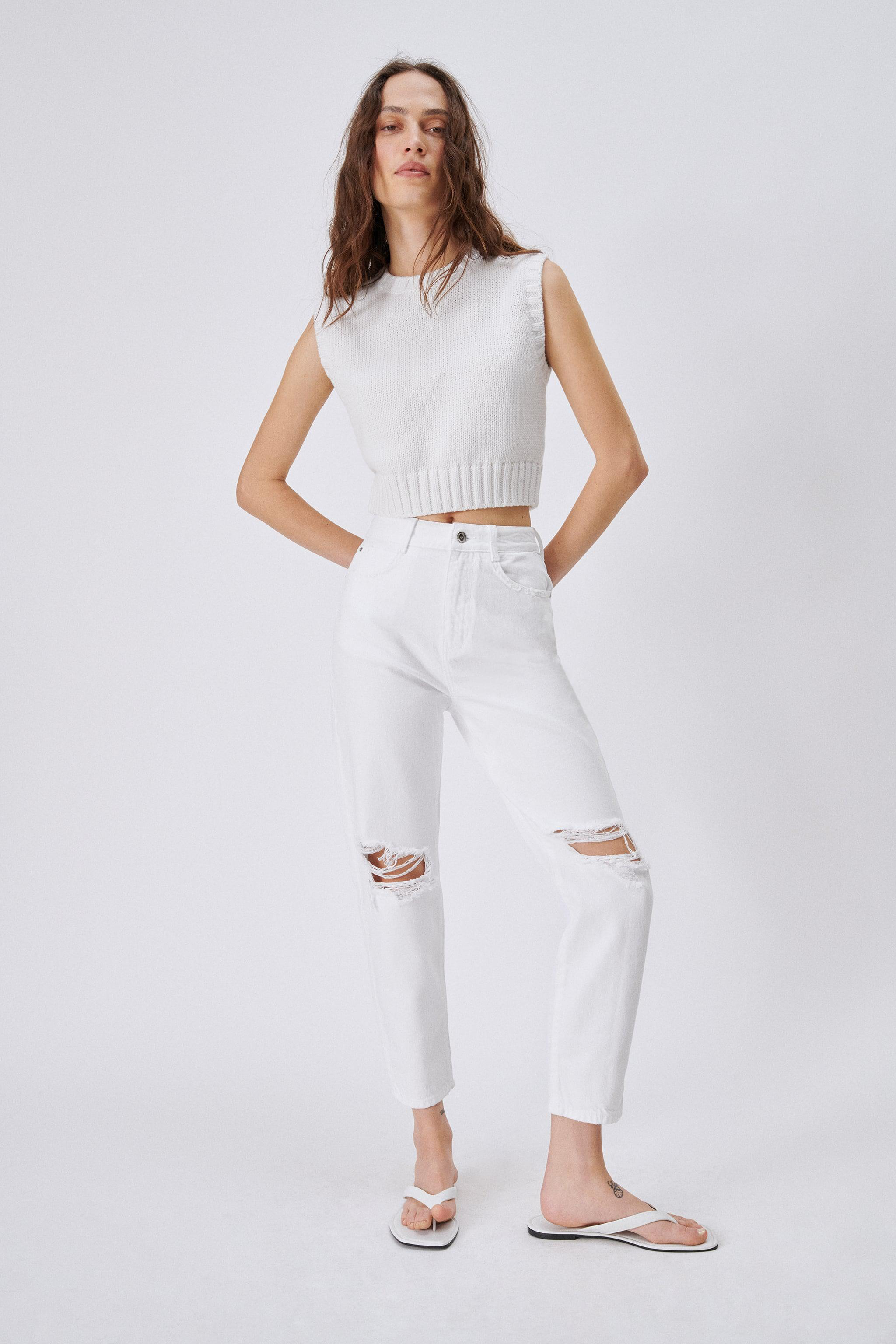 Z1975 RIPPED MOM FIT JEANS
