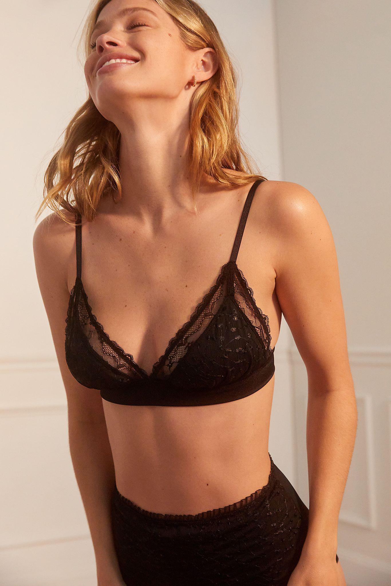 Midnight Lace Triangle Bralette