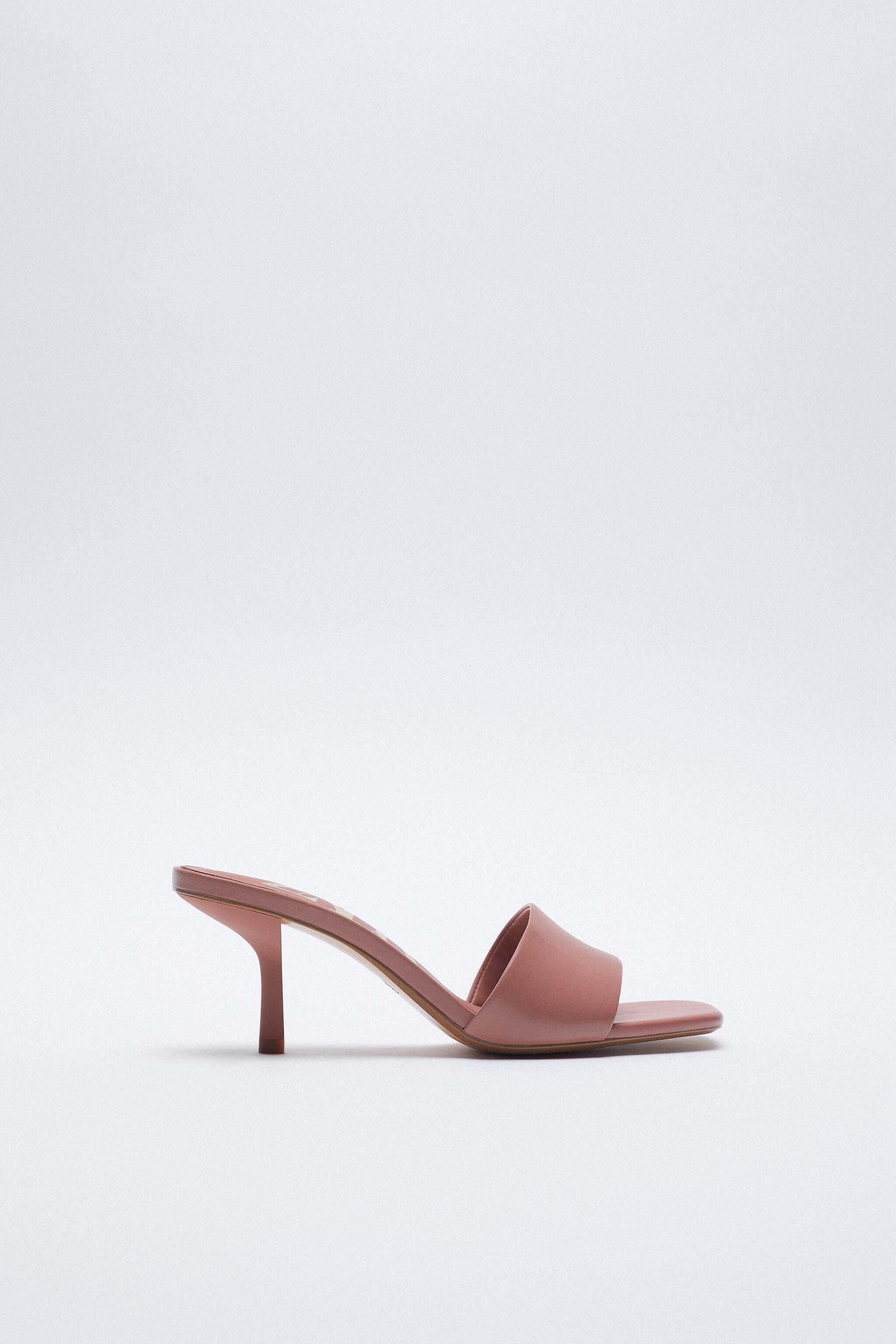 PADDED HEELED LEATHER SANDALS 0