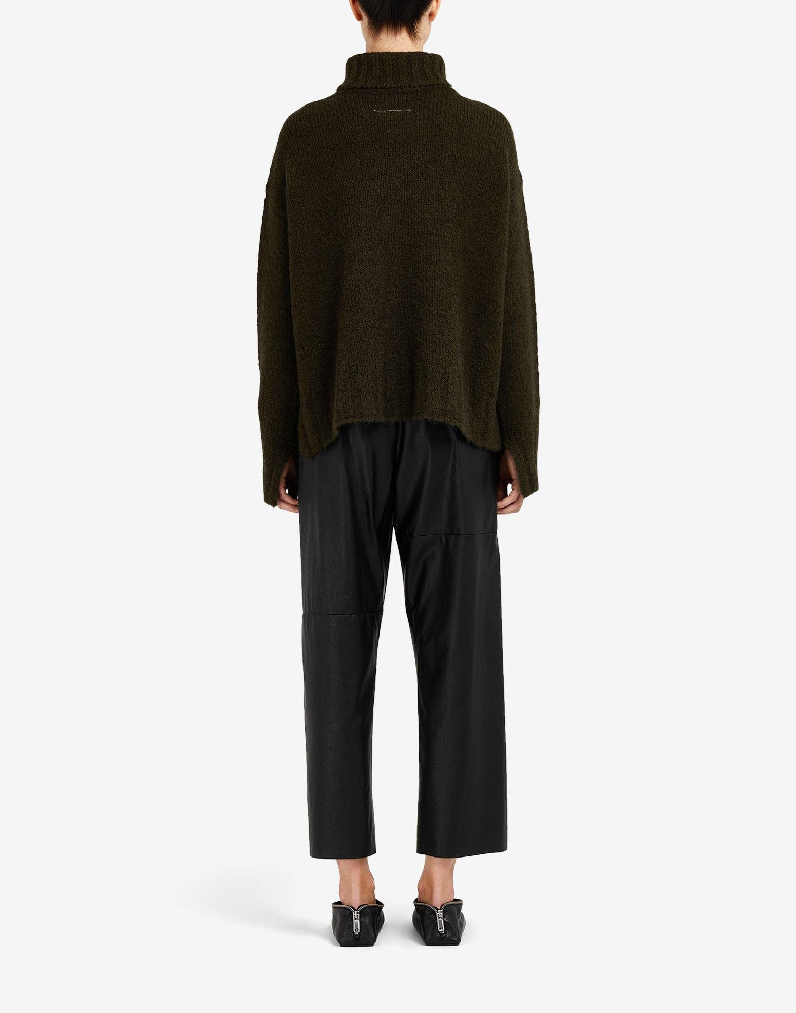 Hairy knit roll-neck sweater 2