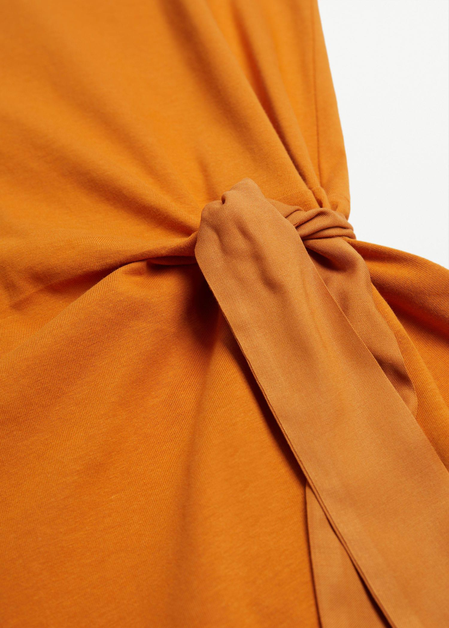 Knotted cotton dress 5