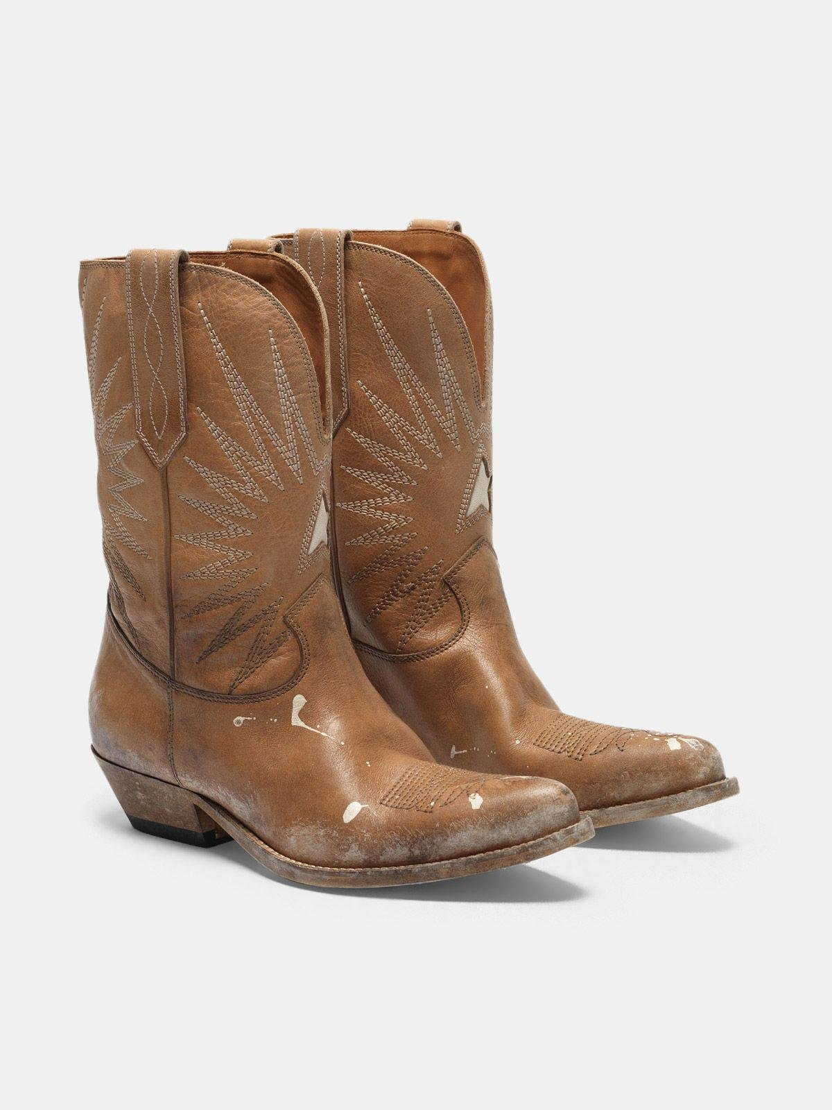 Low Wish Star boots with honey-coloured vegetable tanning 2
