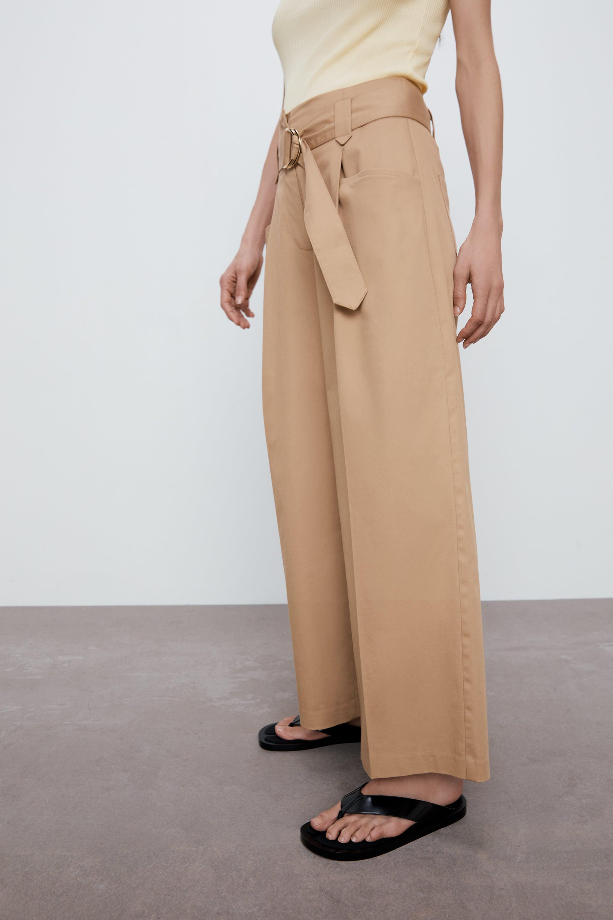 WIDE LEG BELTED PANTS 4