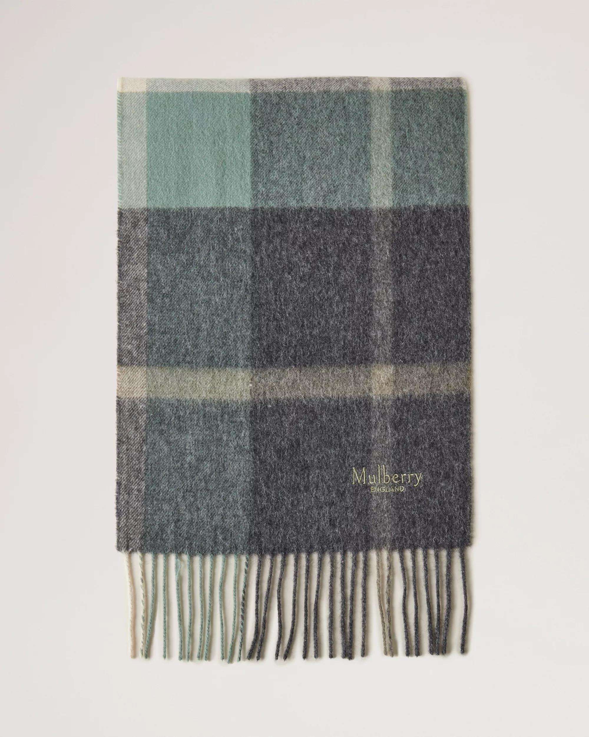Small Check Lambswool Scarf