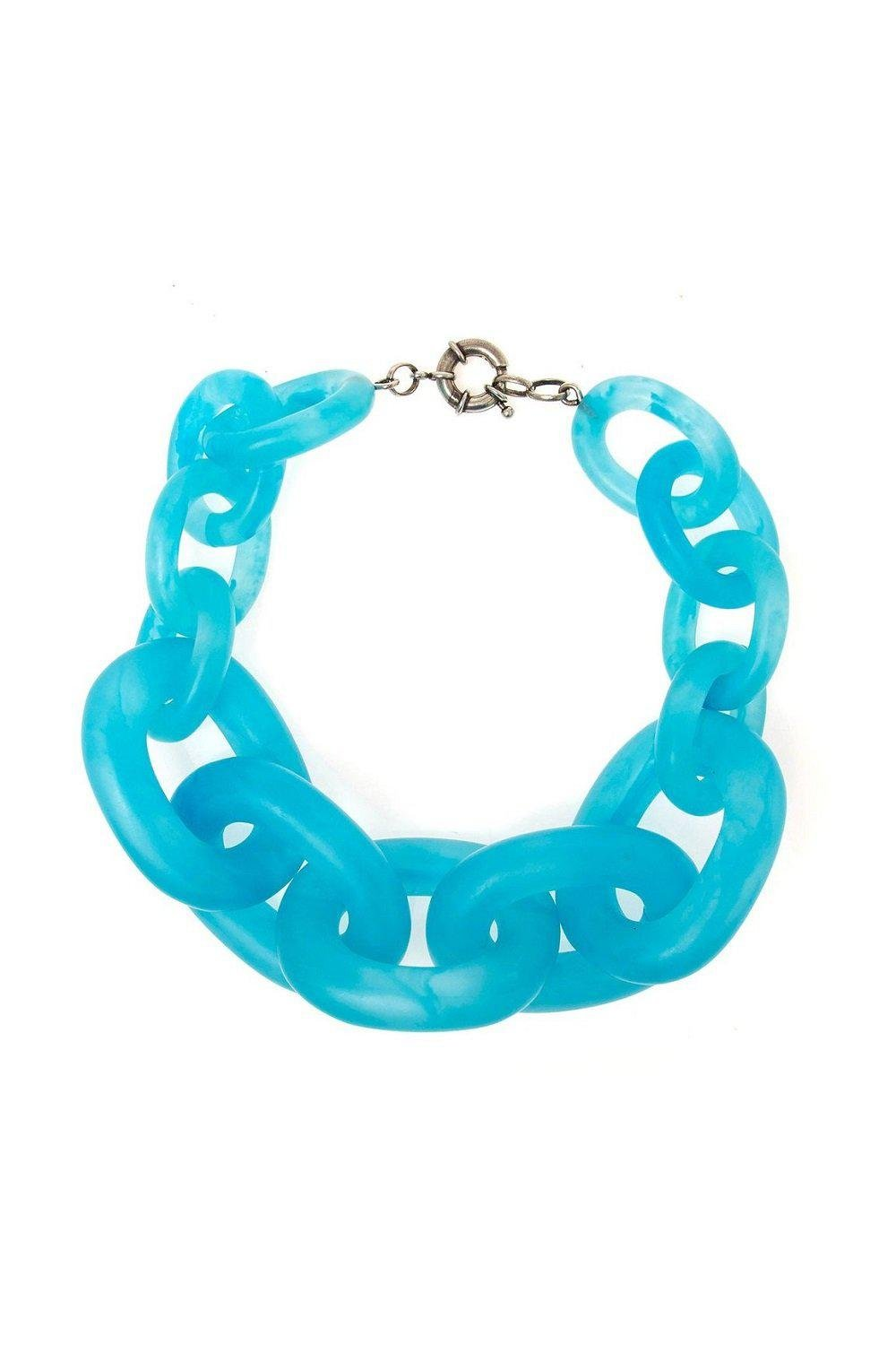 Turquoise Resin Chain Necklace