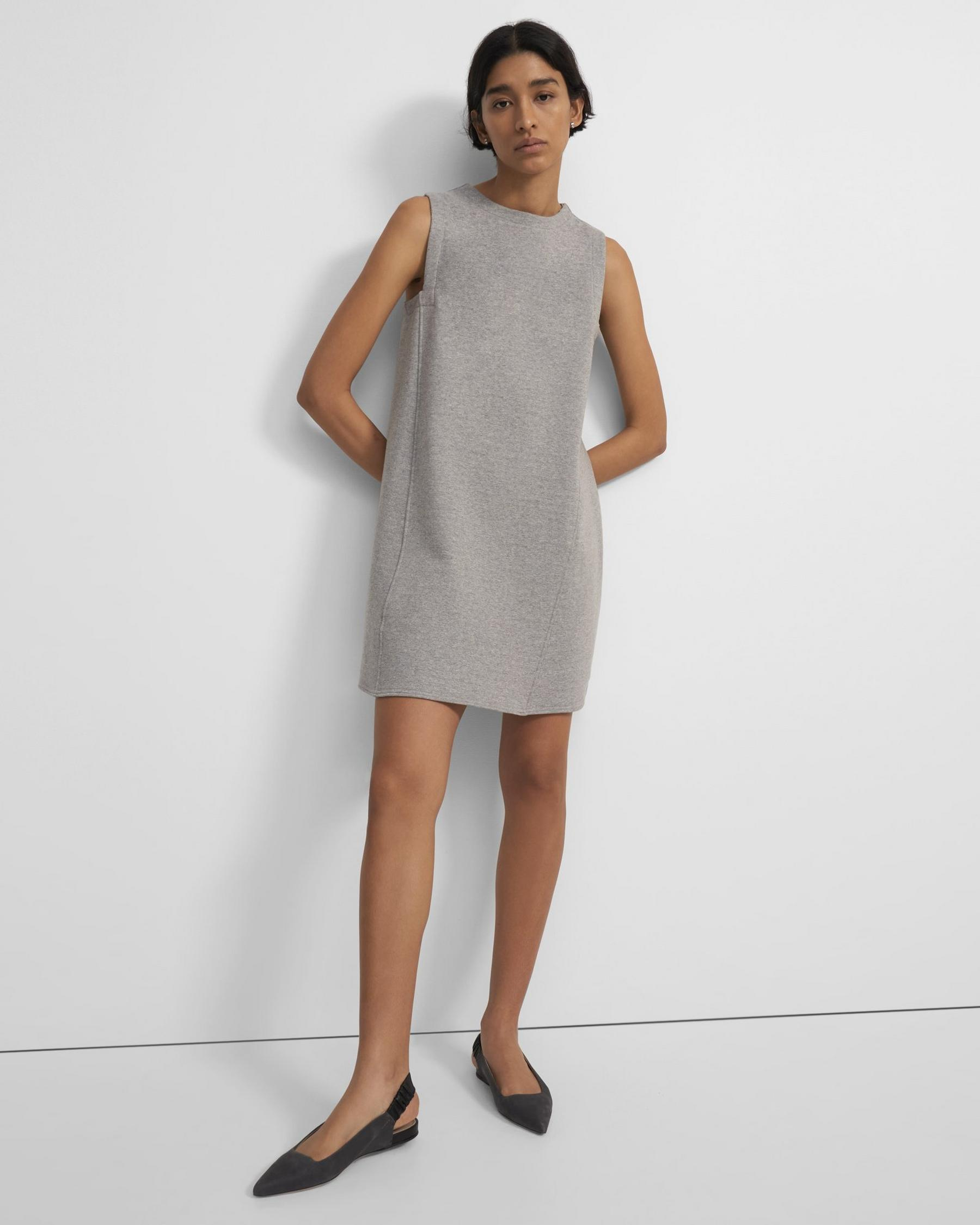 Reversible Sleeveless Tent Dress in Cotton Terry
