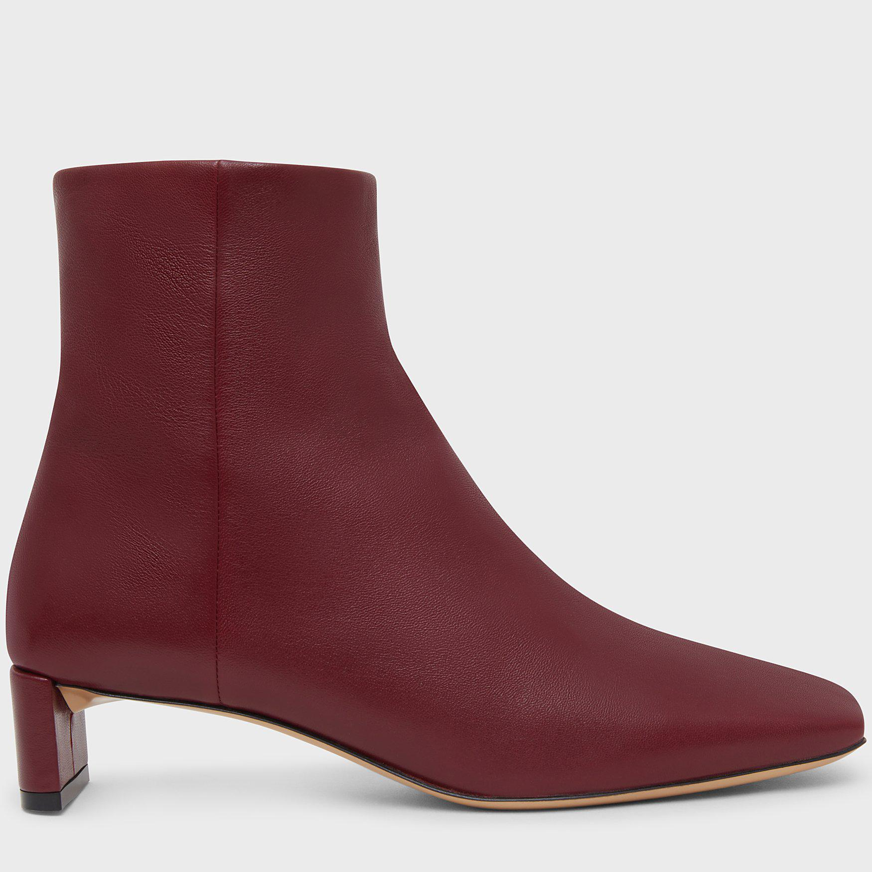 Square Toe Ankle Boot - Claret