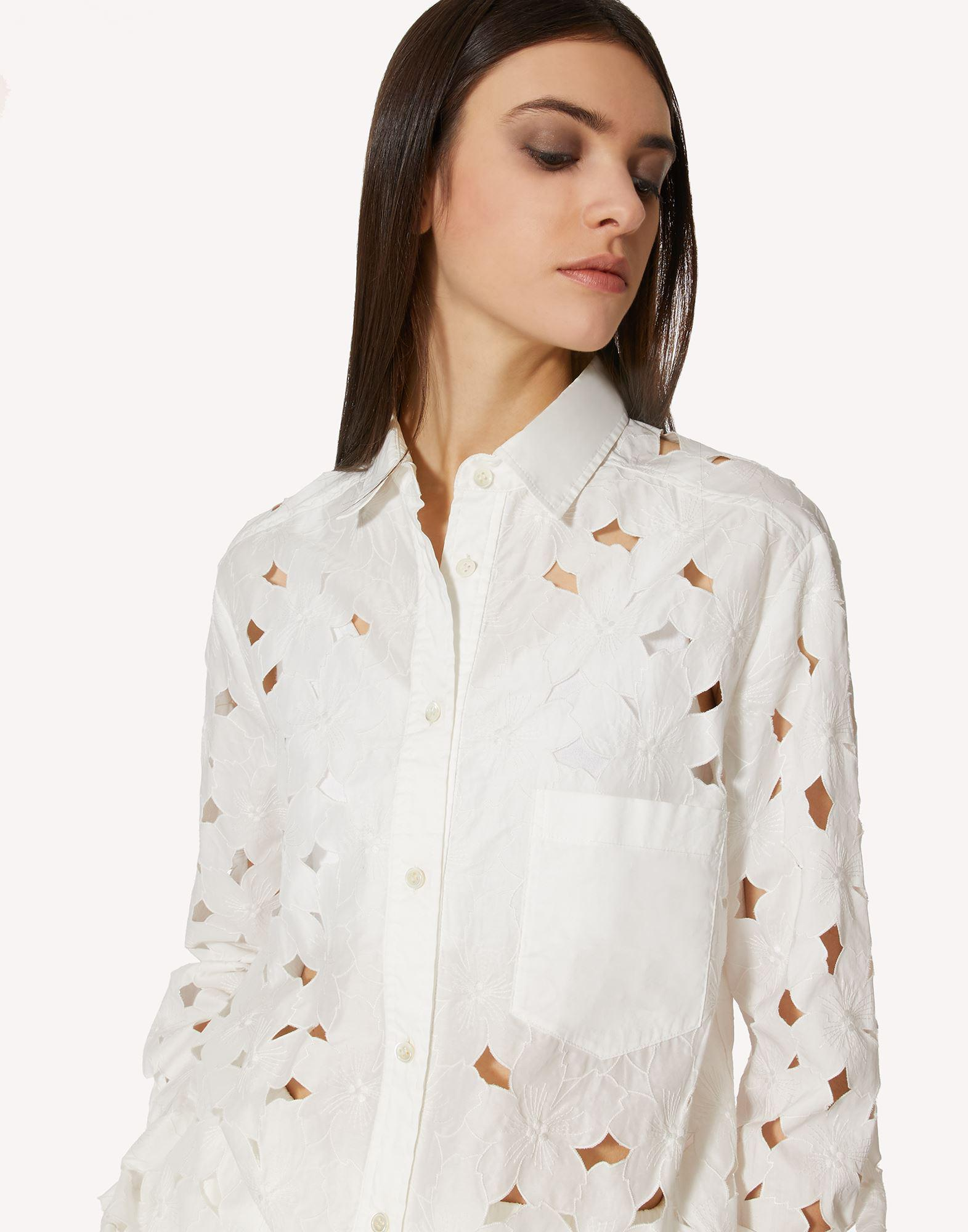COTTON POPLIN SHIRT WITH CUT-OUT EMBROIDERY 3