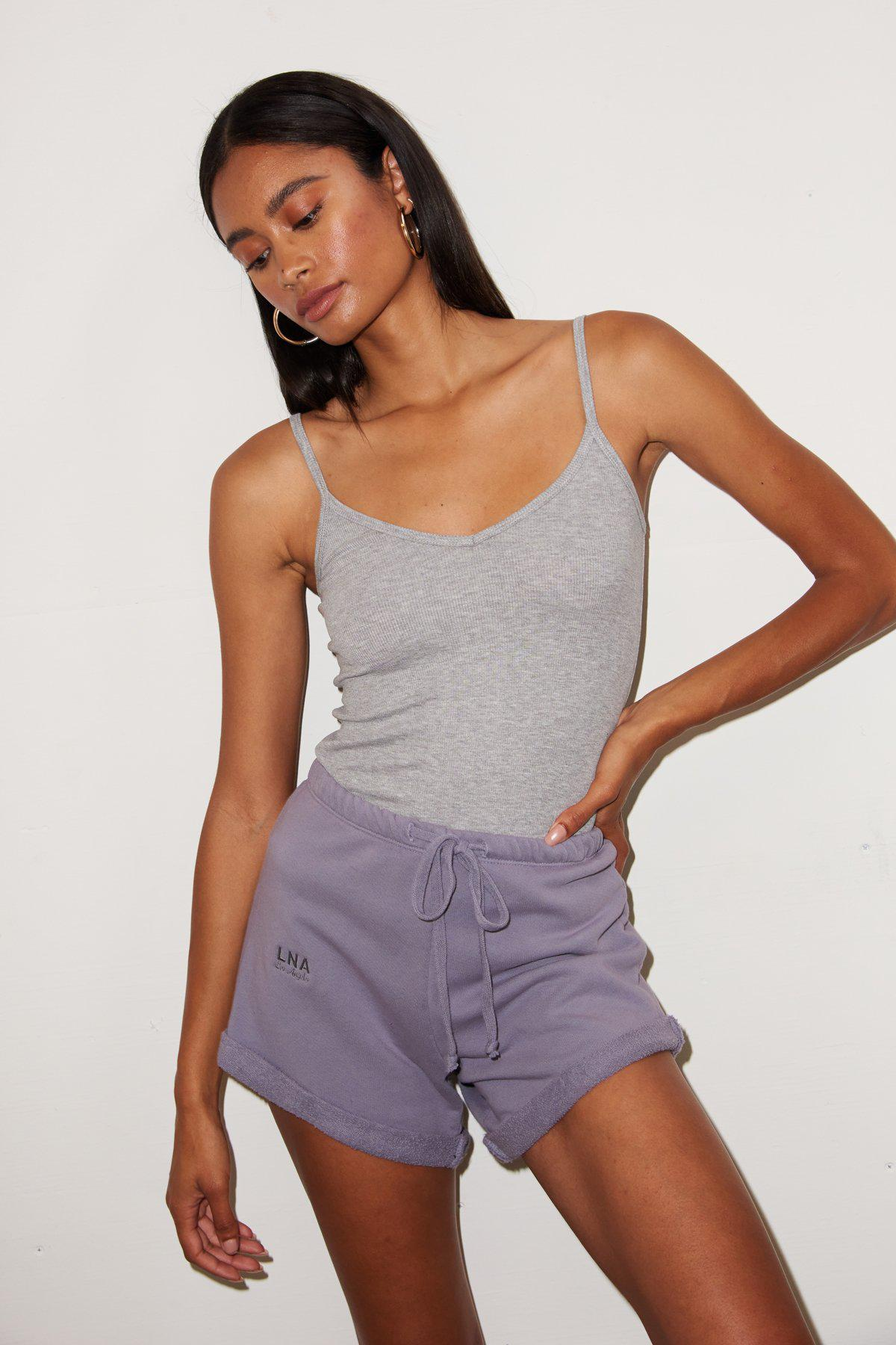 Rolled Logo Short - Lilac Stone