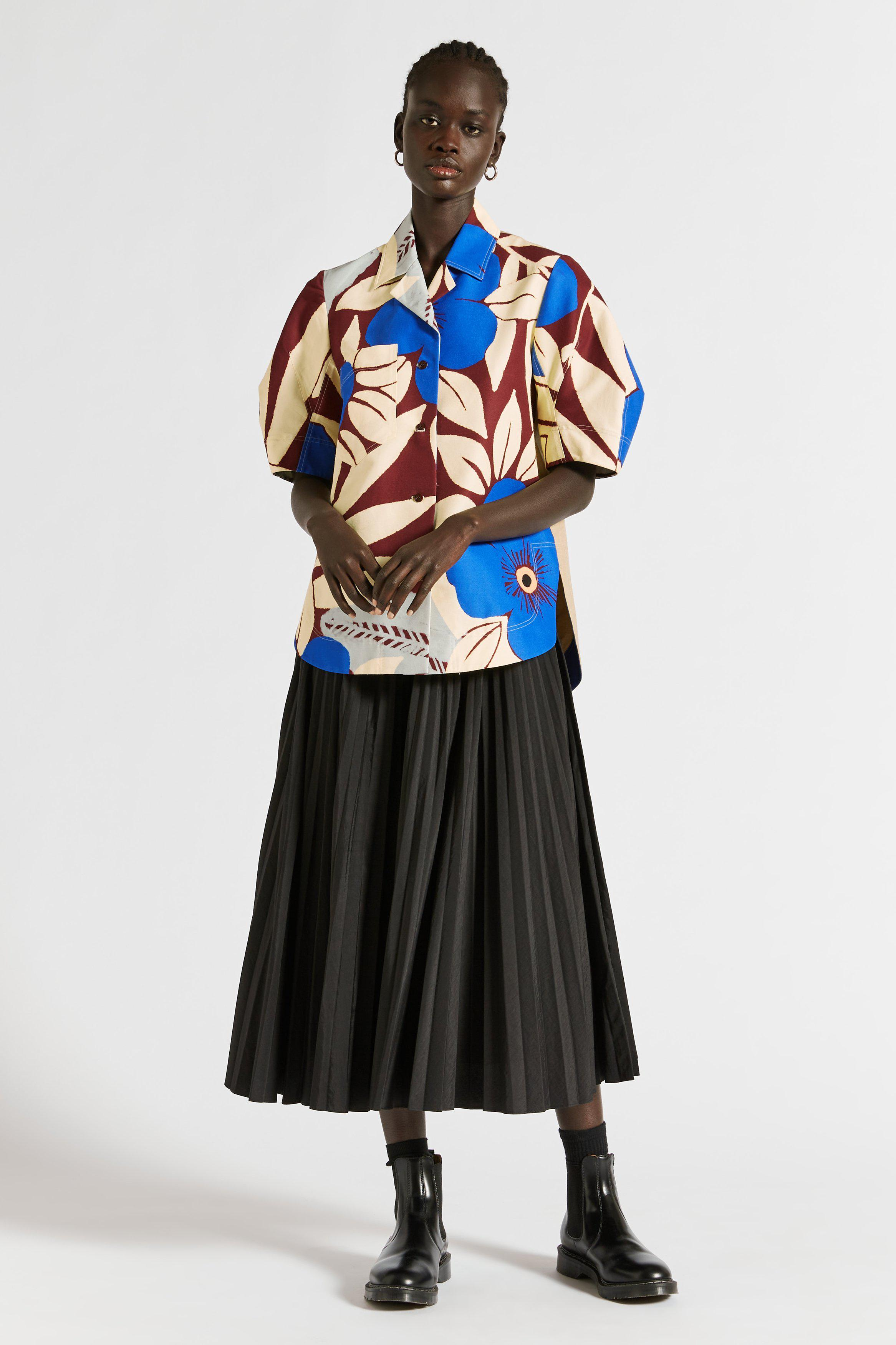 Astrid Floral Cocoon Sleeve Shirt
