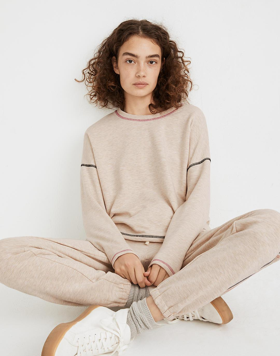 MWL Superbrushed Contrast-Stitched Easygoing Sweatshirt