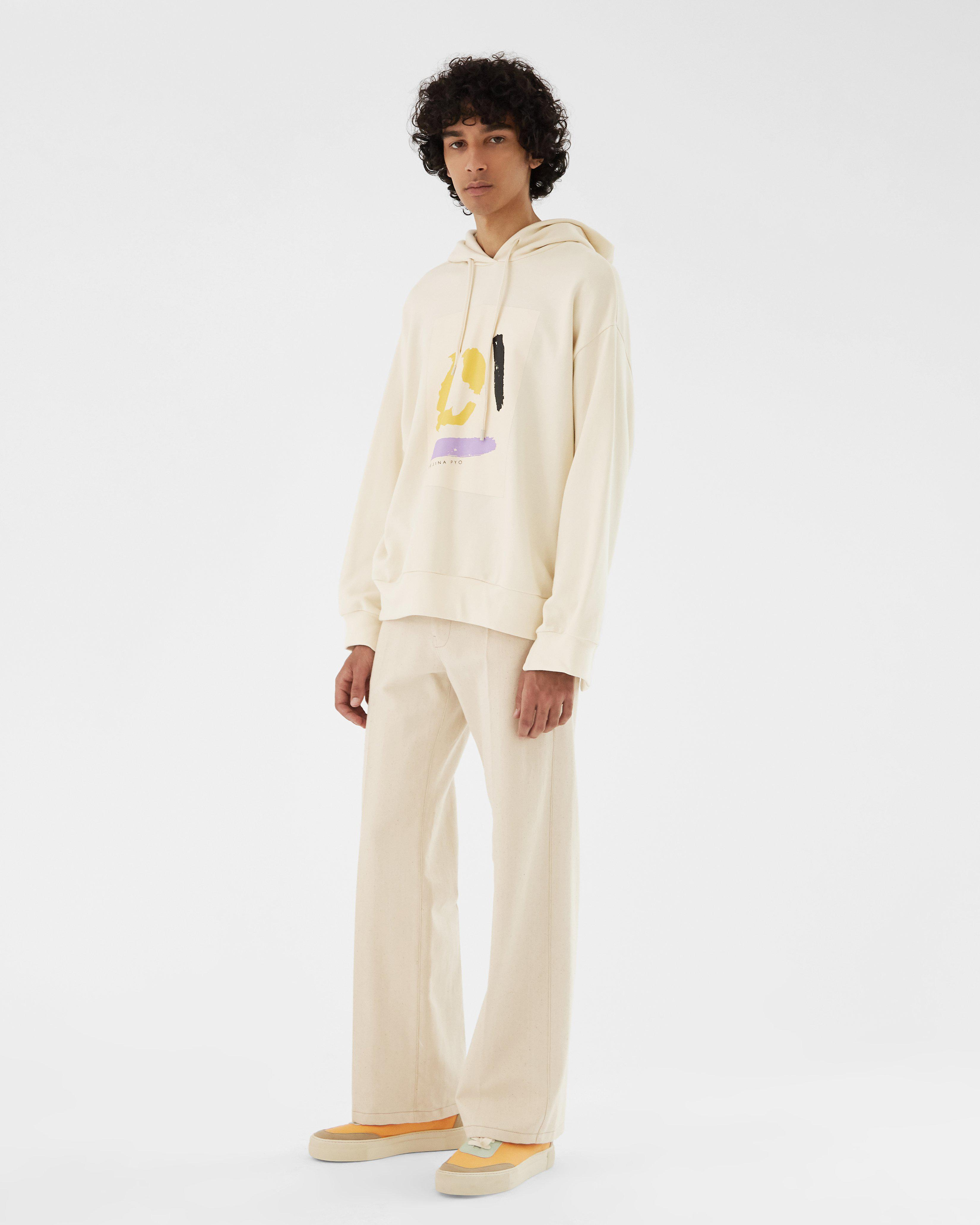 Casey Hoodie Organic French Terry Cotton Ivory 3
