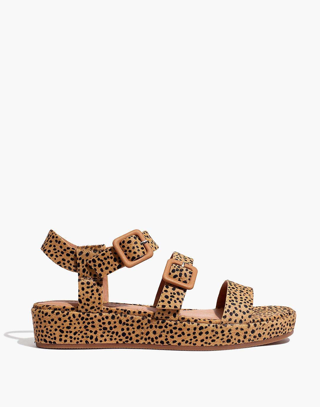 The Robin Platform Sandal in Spotted Calf Hair 1