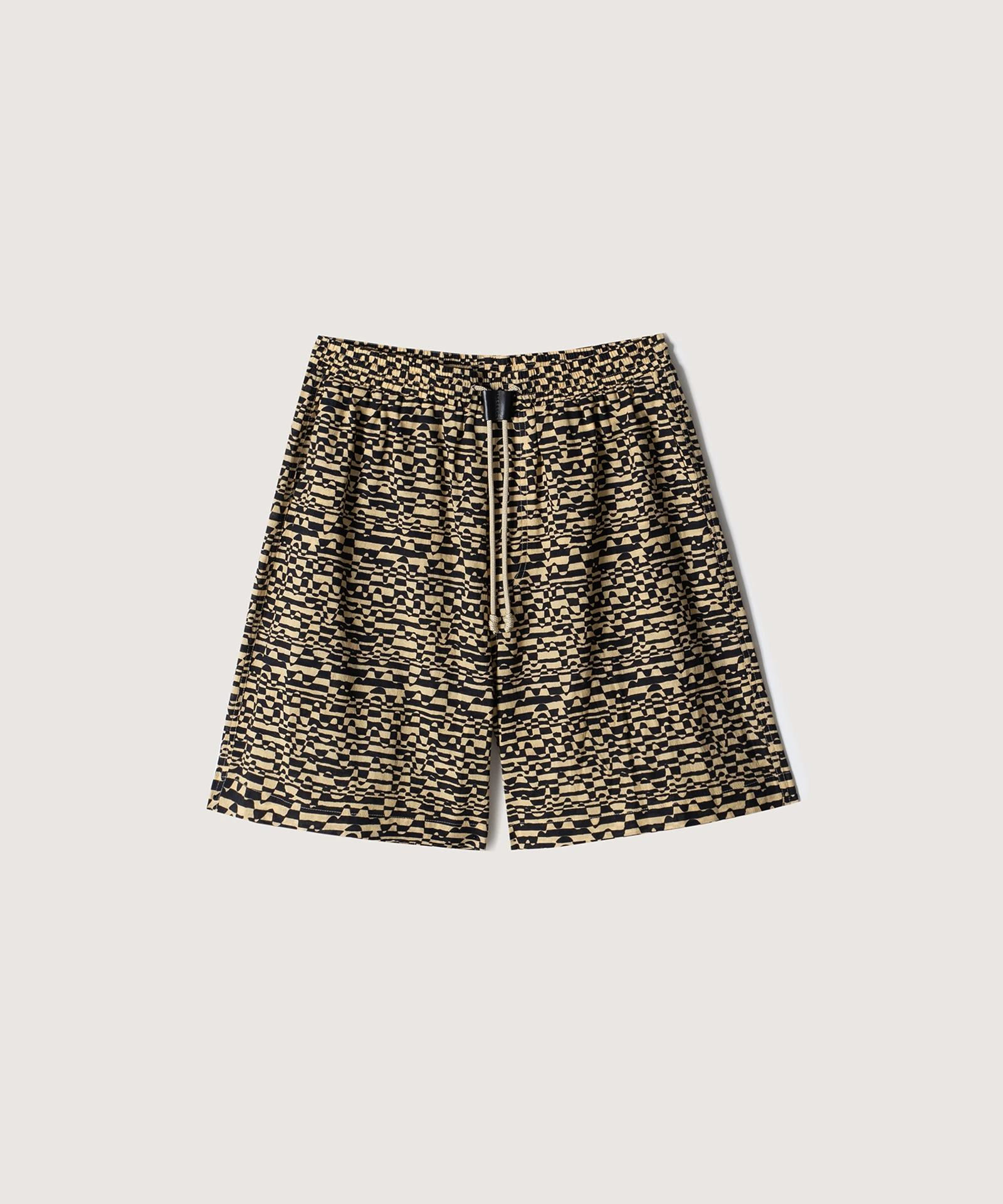 DOXXI - Printed voile shorts - Optic Wave