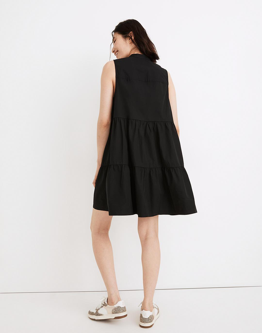 Banded-Collar Tiered Dress 2