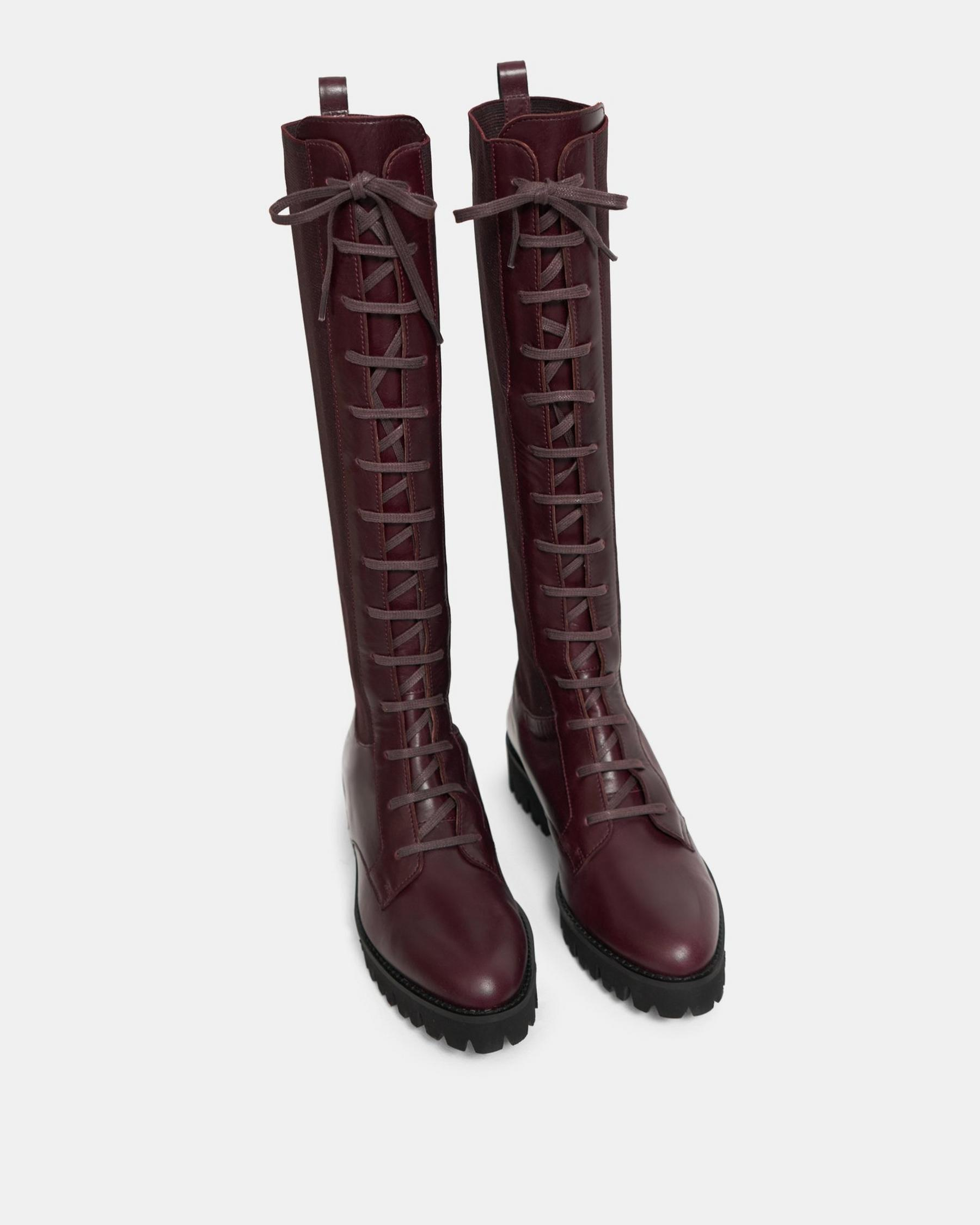 Laced Lug Boot in Leather 2