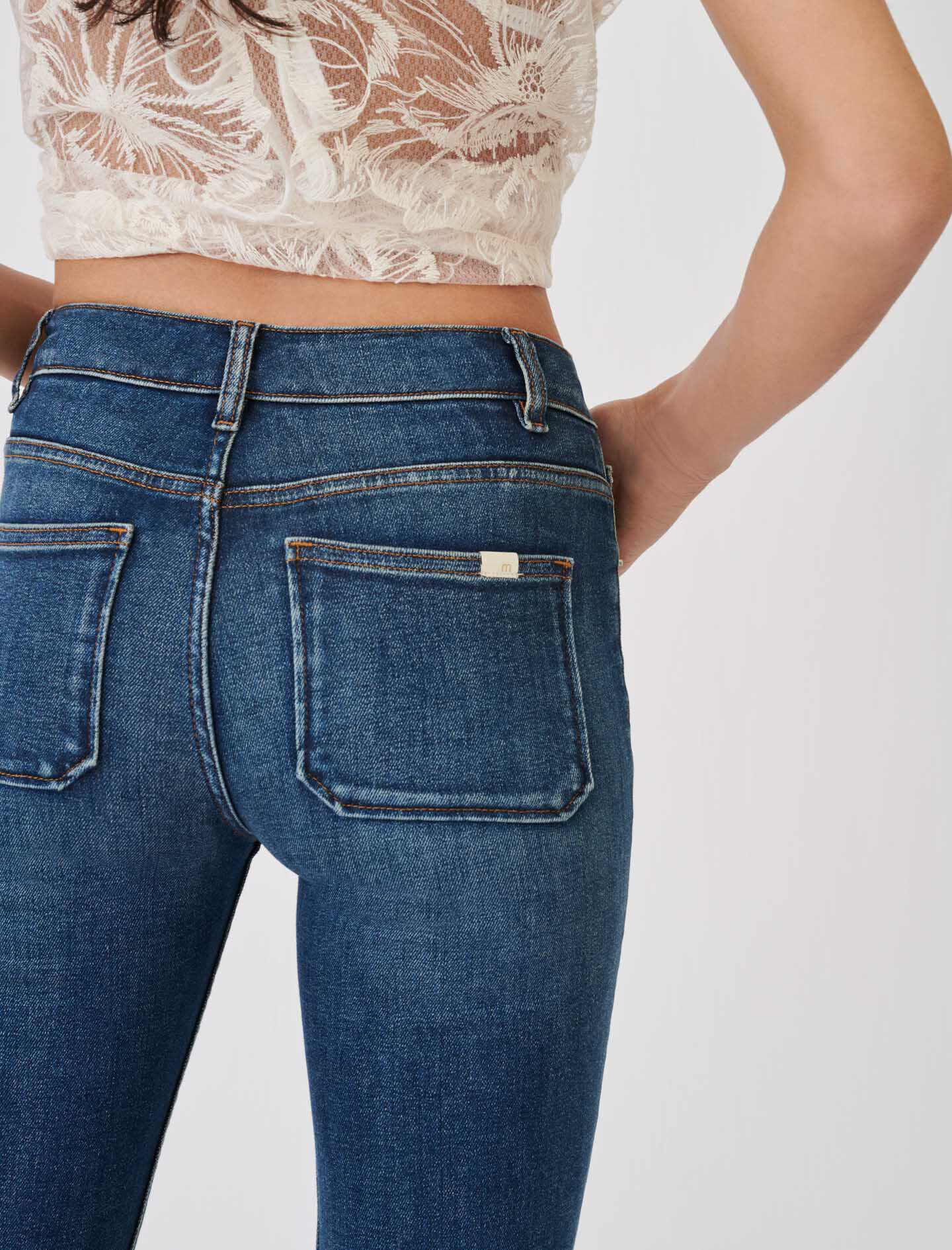 STRAIGHT CUT JEANS WITH FRINGING 5
