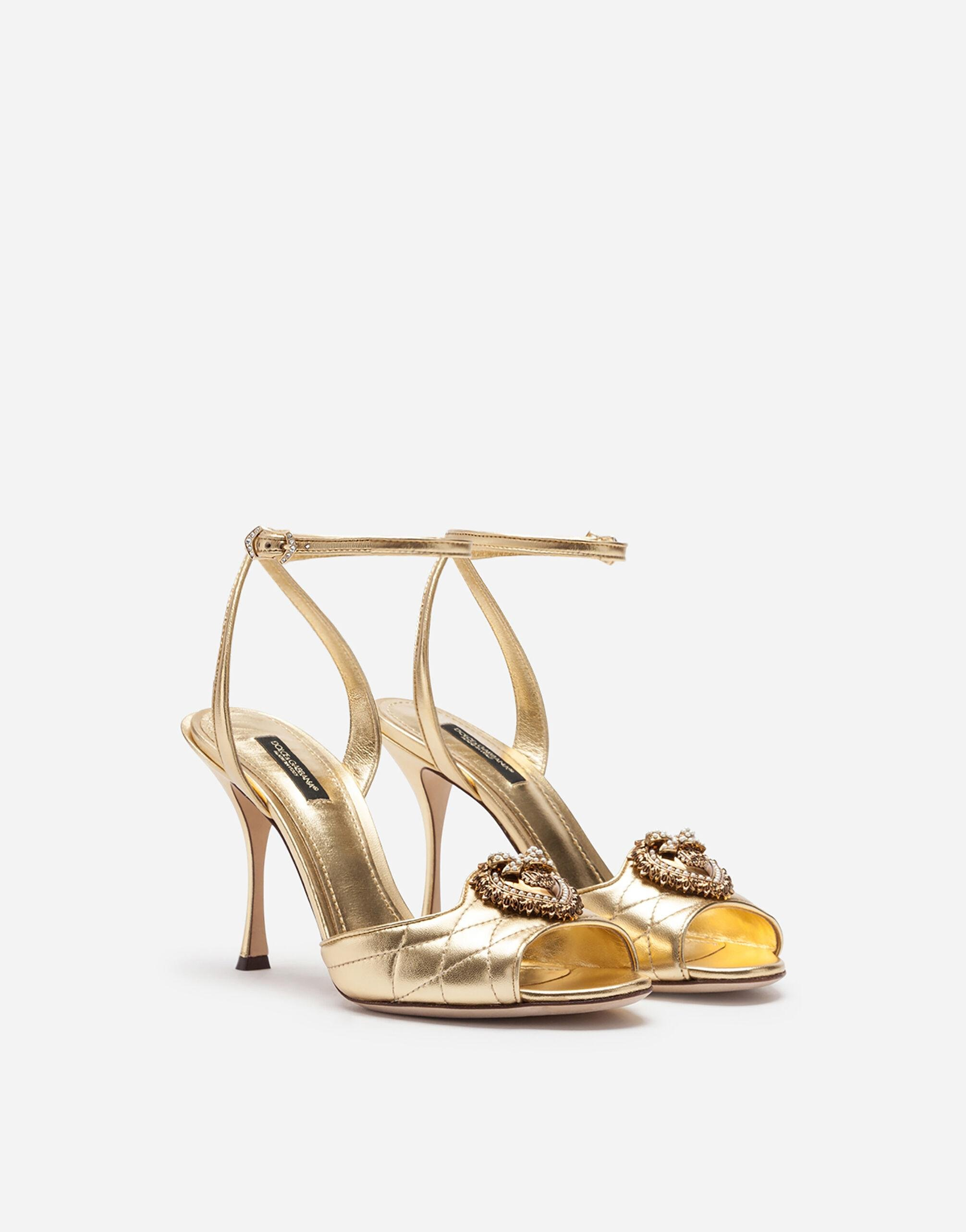 Quilted nappa mordore Devotion sandals 1