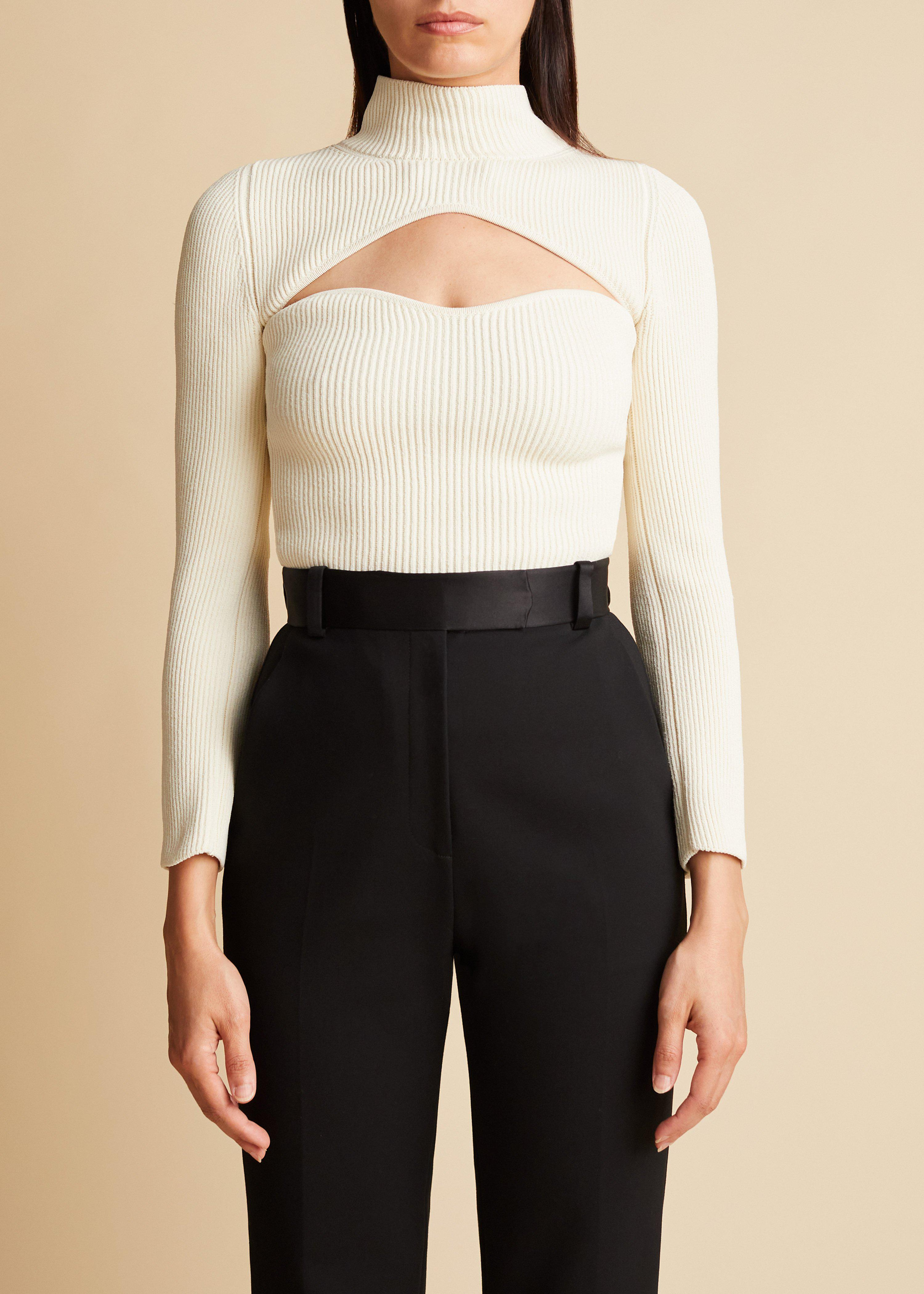 The Angela Top in Ivory