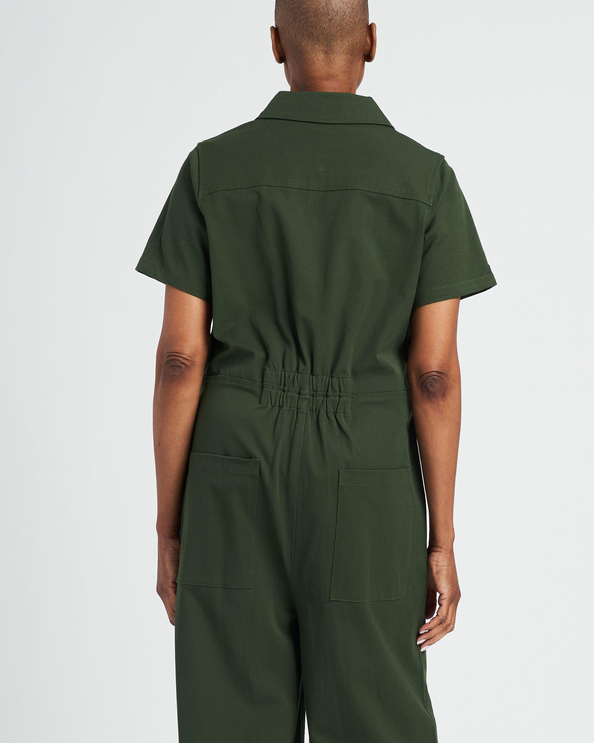 Kate Stretch Cotton Twill Jumpsuit 7