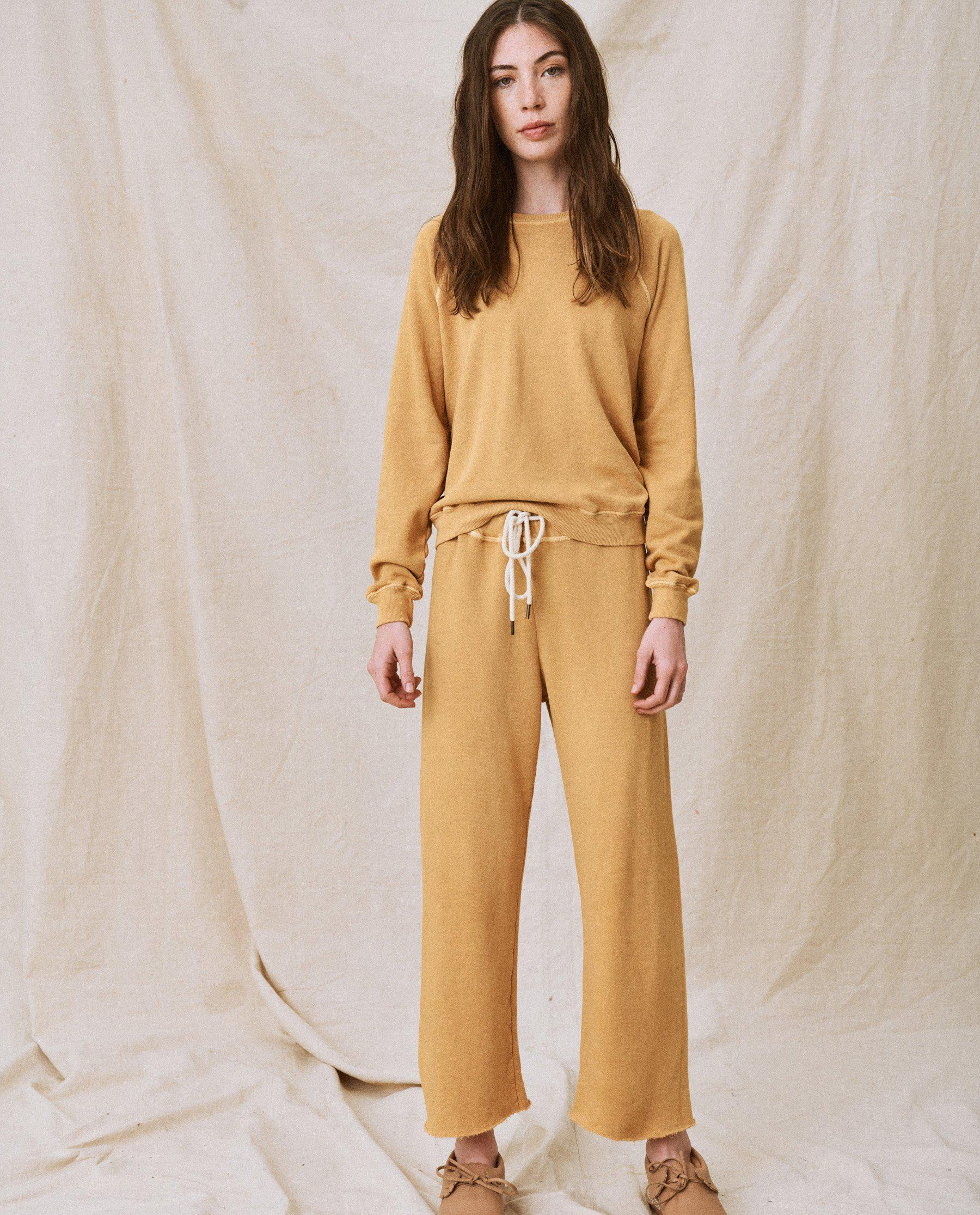 The Wide Leg Cropped Sweatpant. -- Honey 2