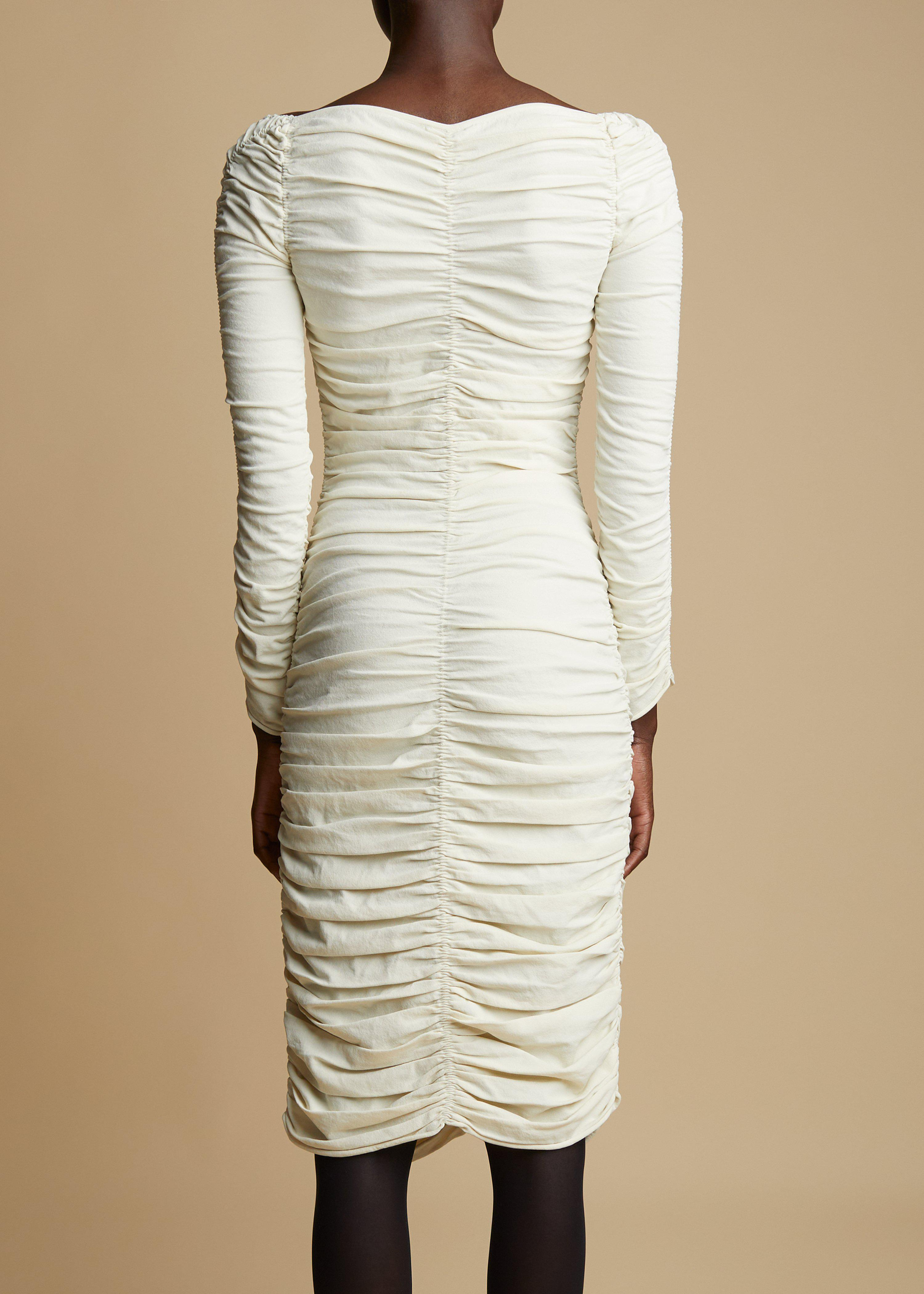 The Charmaine Dress in Ivory 2