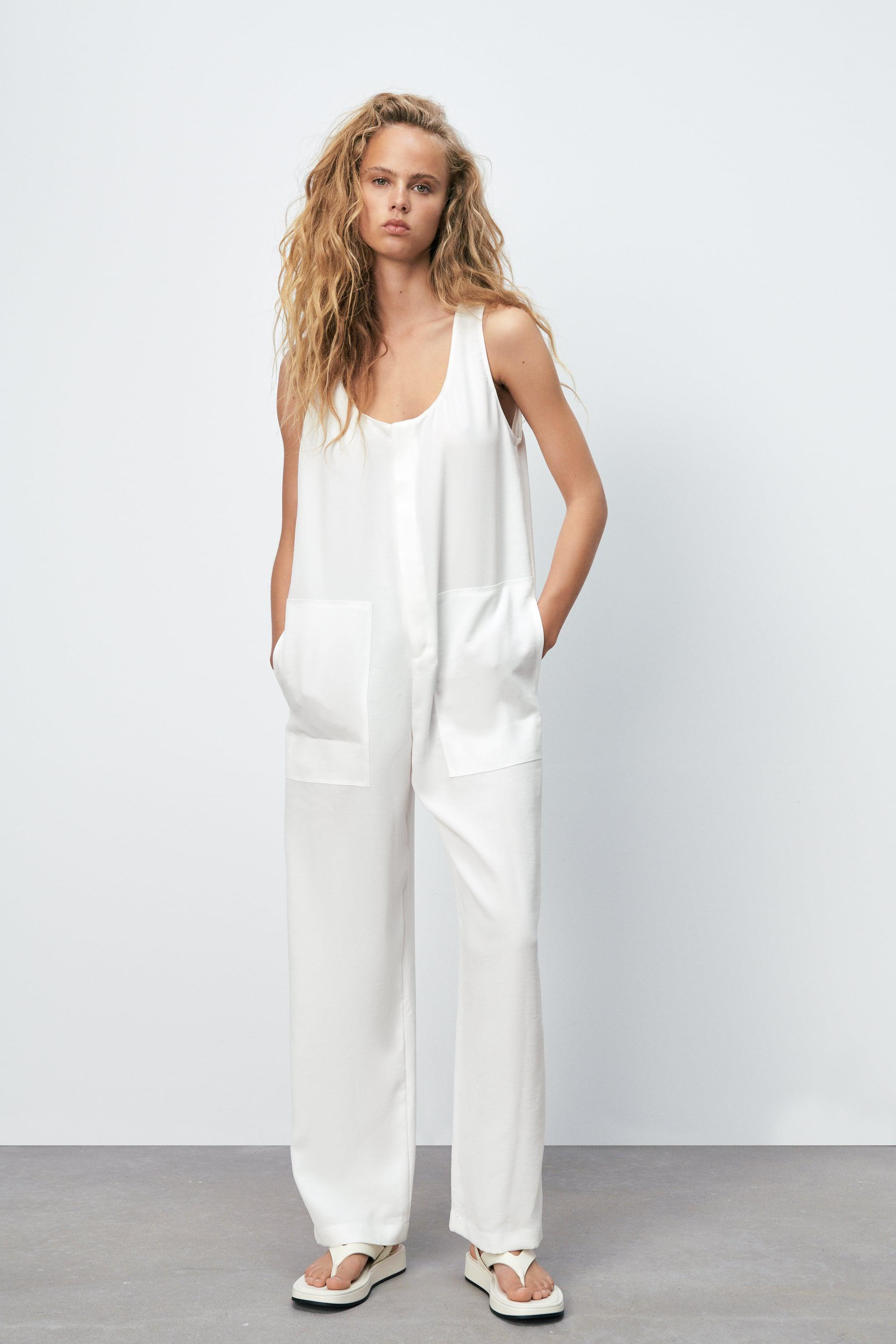 LONG FLOWY OVERALLS