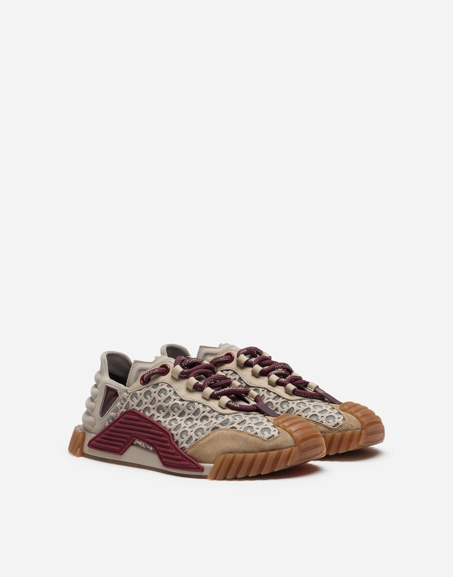NS1 slip-on sneakers in mixed materials with allover DG print 1