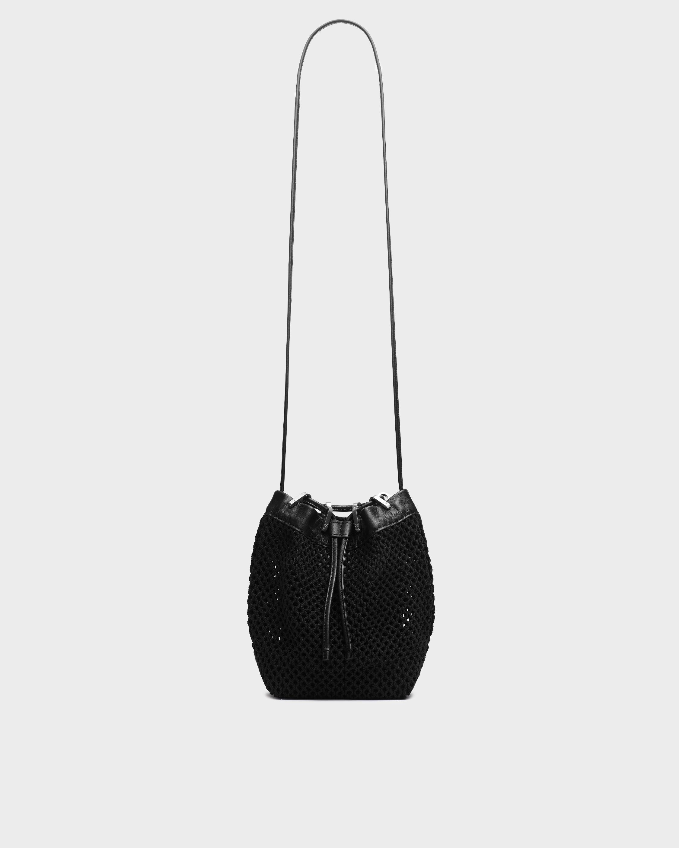 Summer dayton drawstring bag - leather and recycled materials