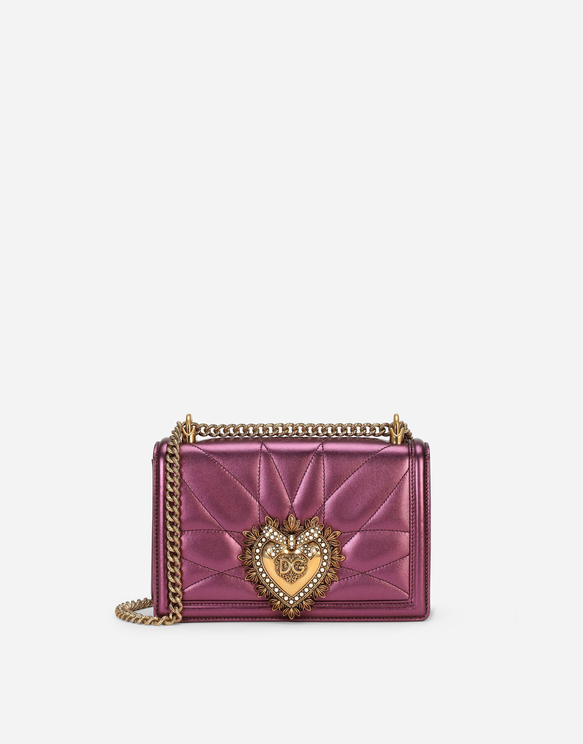 Medium Devotion crossbody bag in quilted nappa mordore leather
