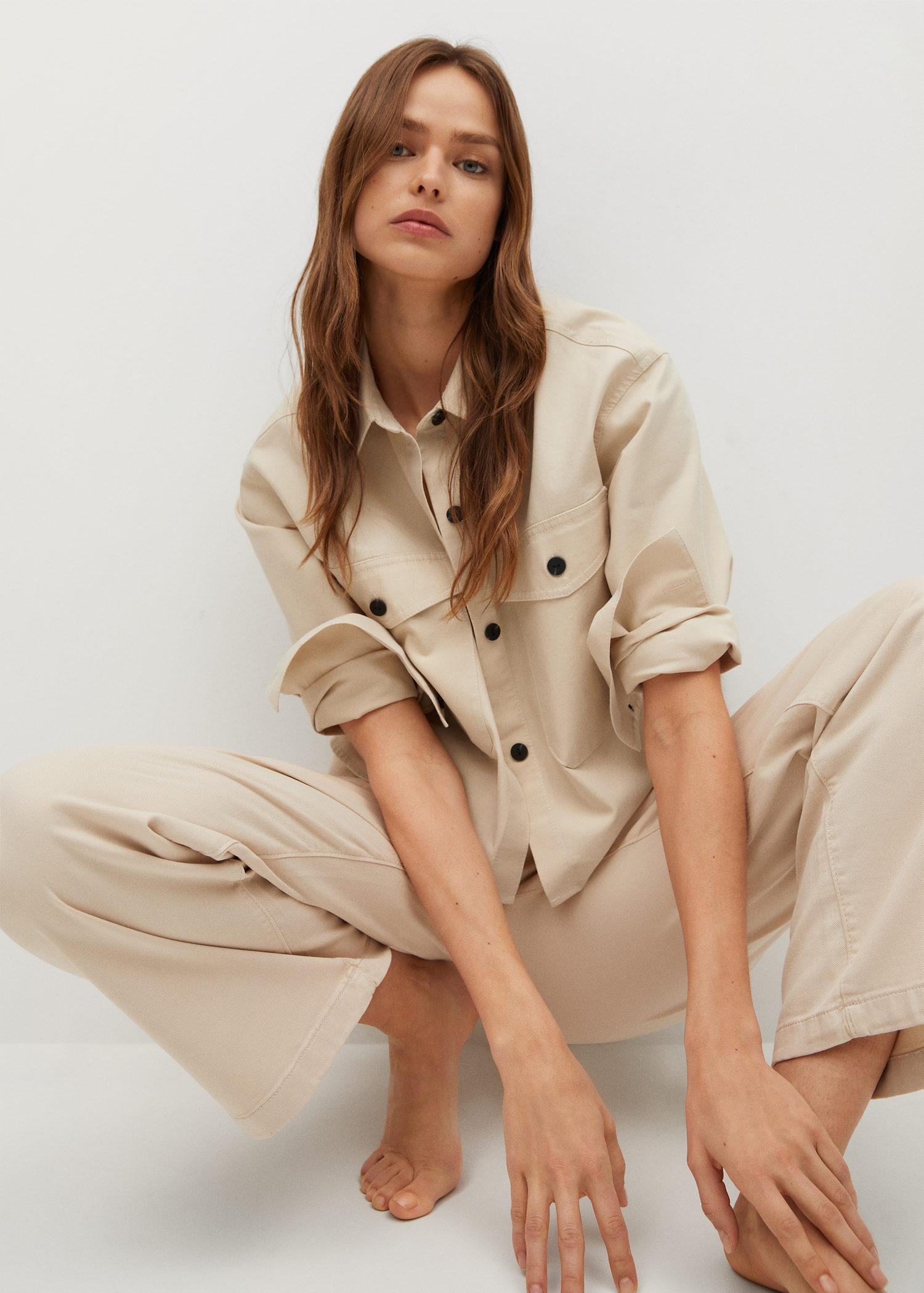 Cropped cotton overshirt 3