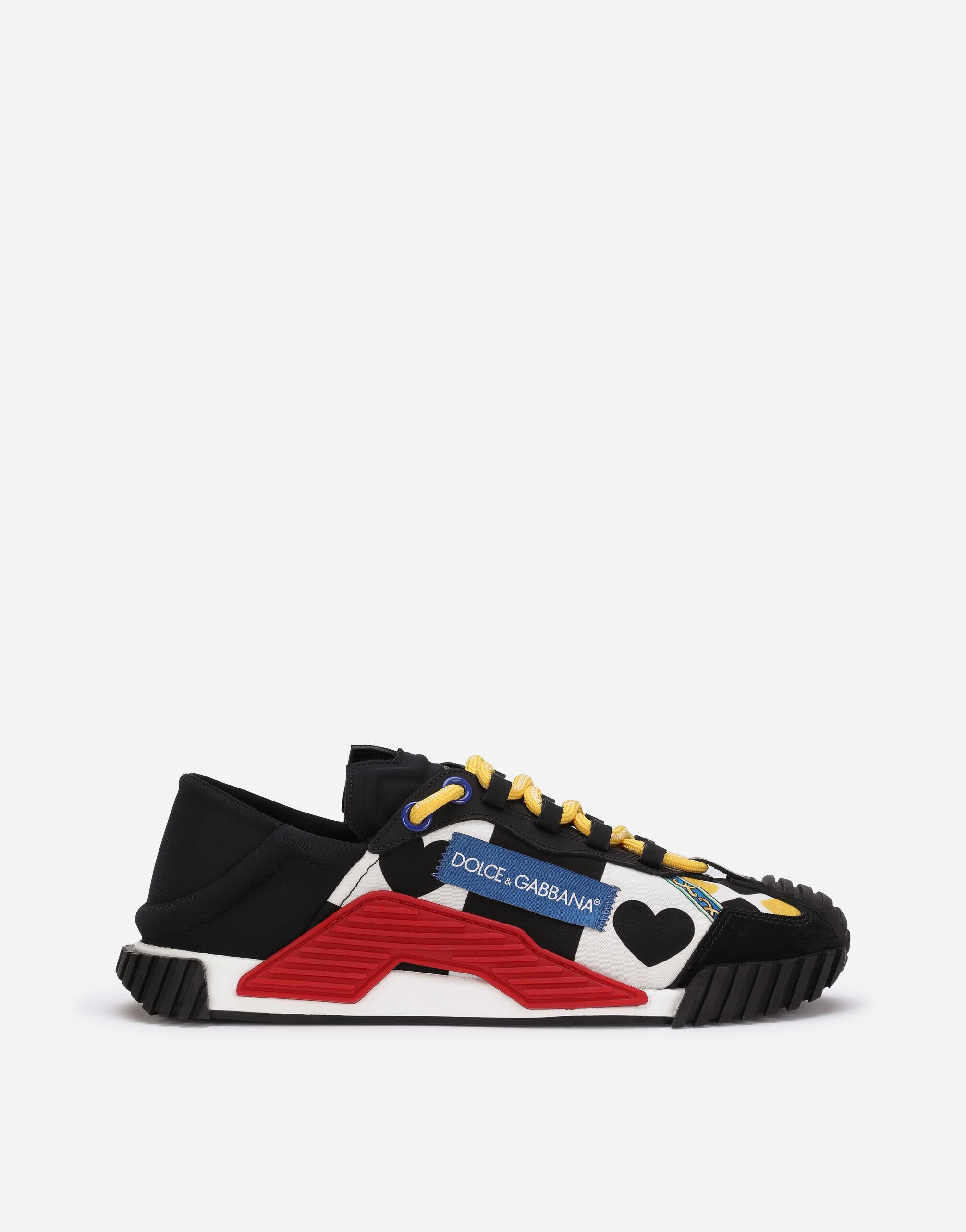Mixed material NS1 slip-on sneakers with carretto patchwork print