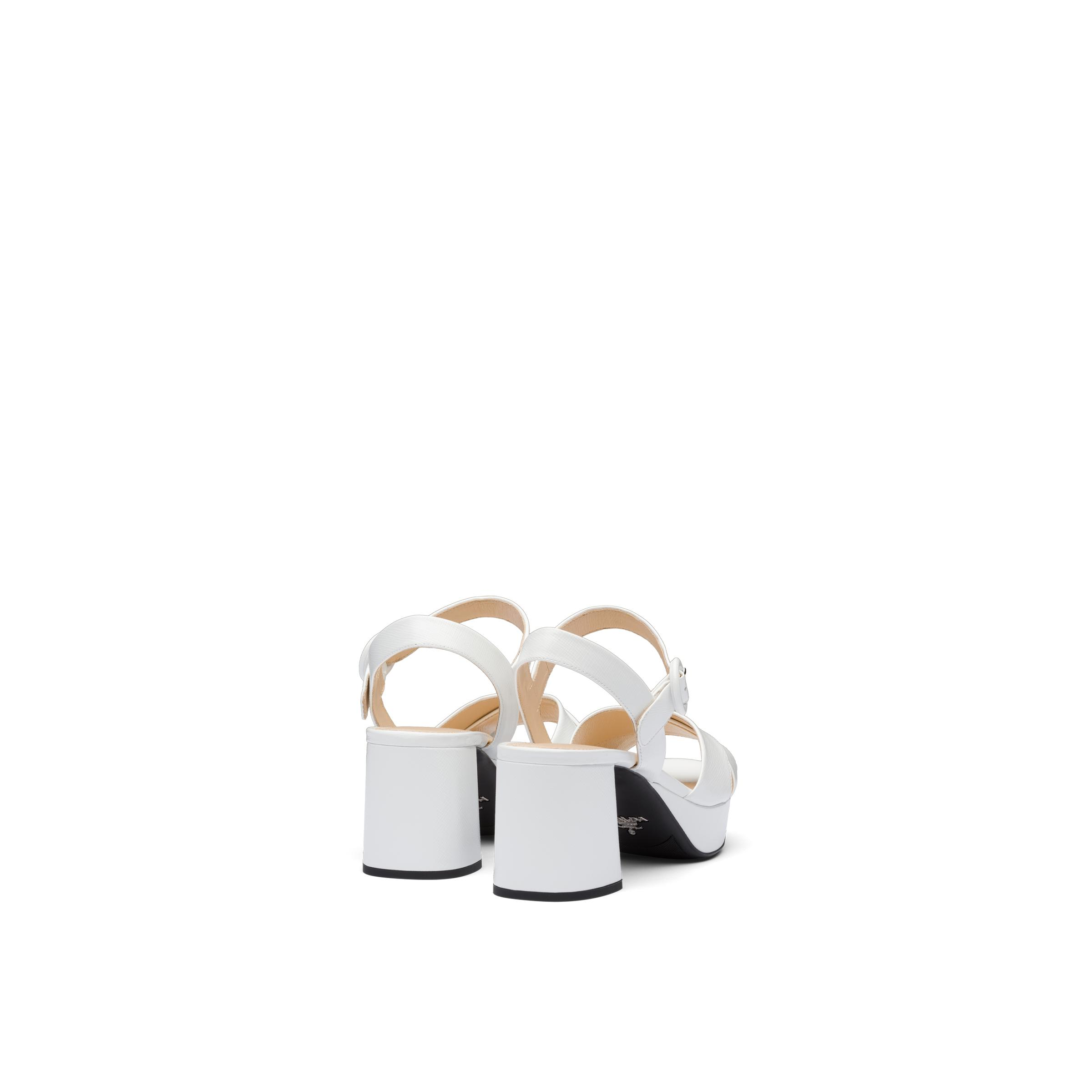 Patent Leather Sandals Women White 3