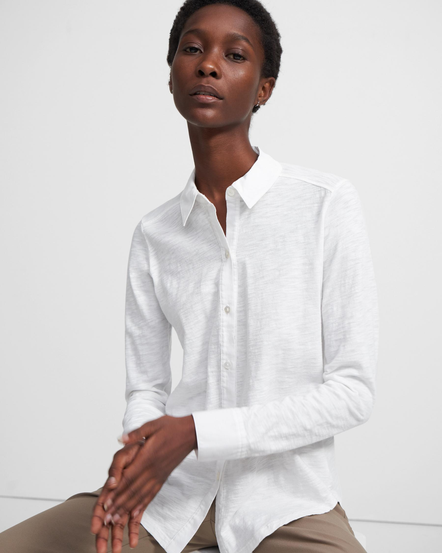 Button Up Shirt in Organic Cotton 0