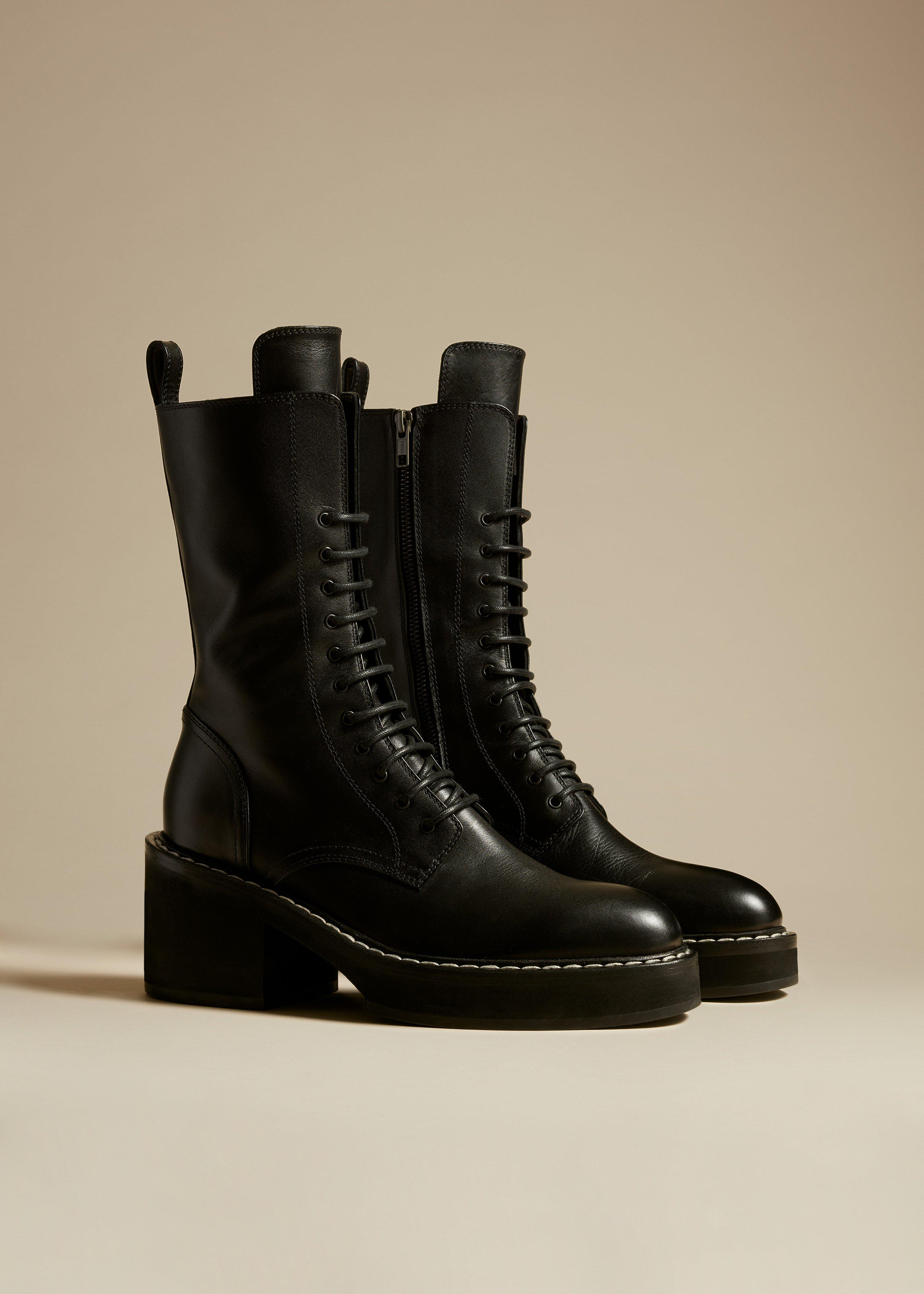 The Cody Boot in Black Leather 1
