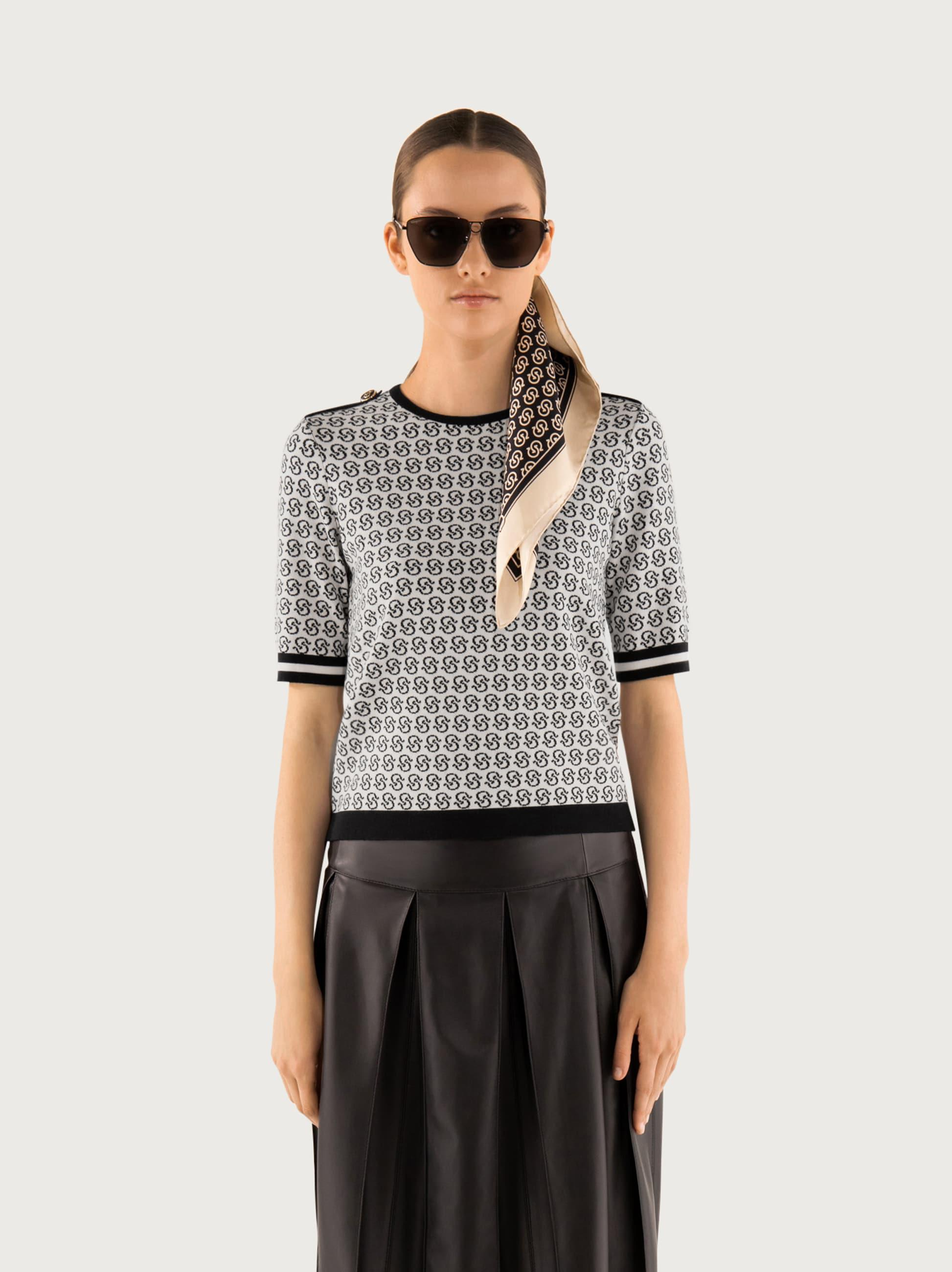 GANCIO S SHORT SLEEVED KNITTED TOP