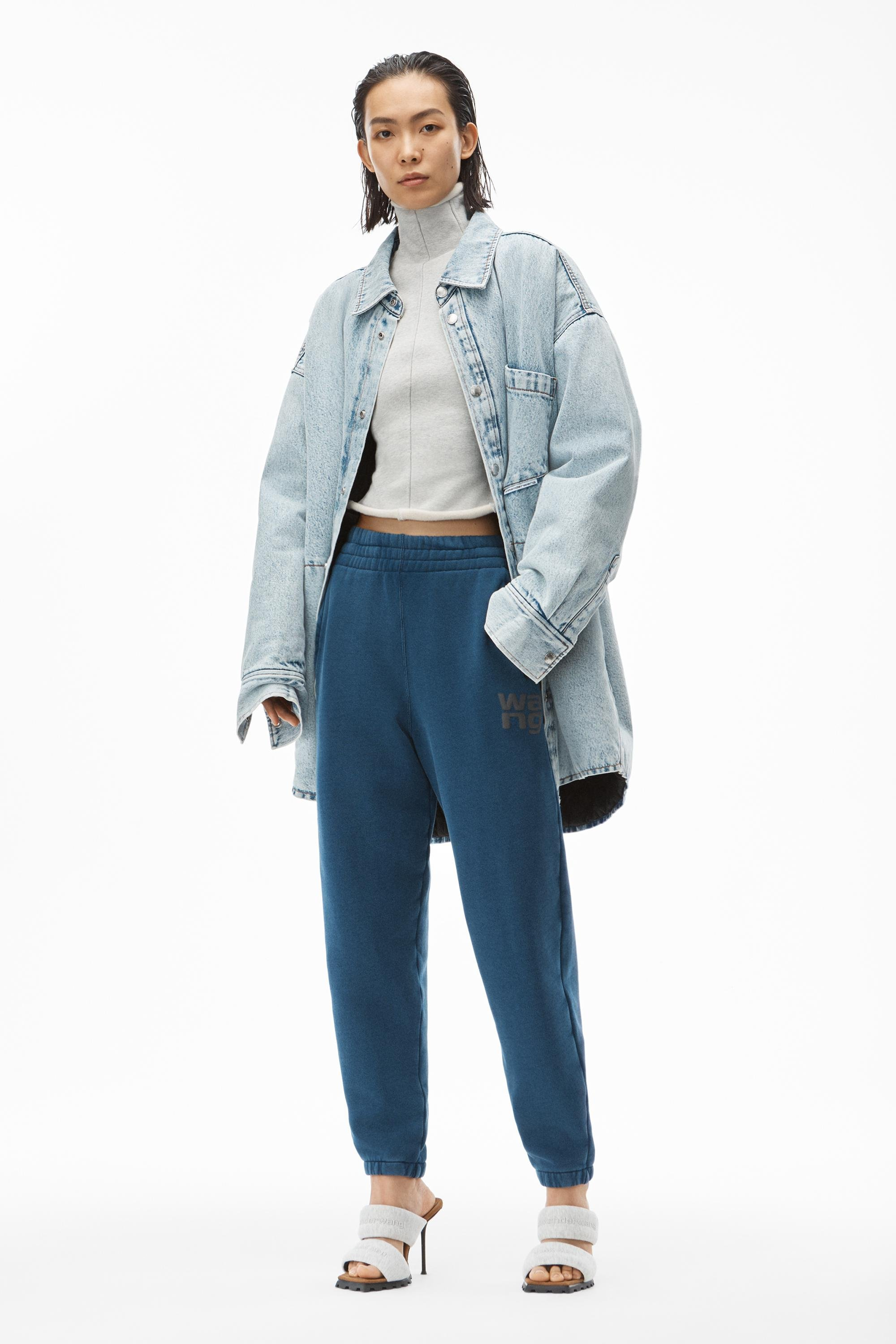puff logo sweatpant in structured terry
