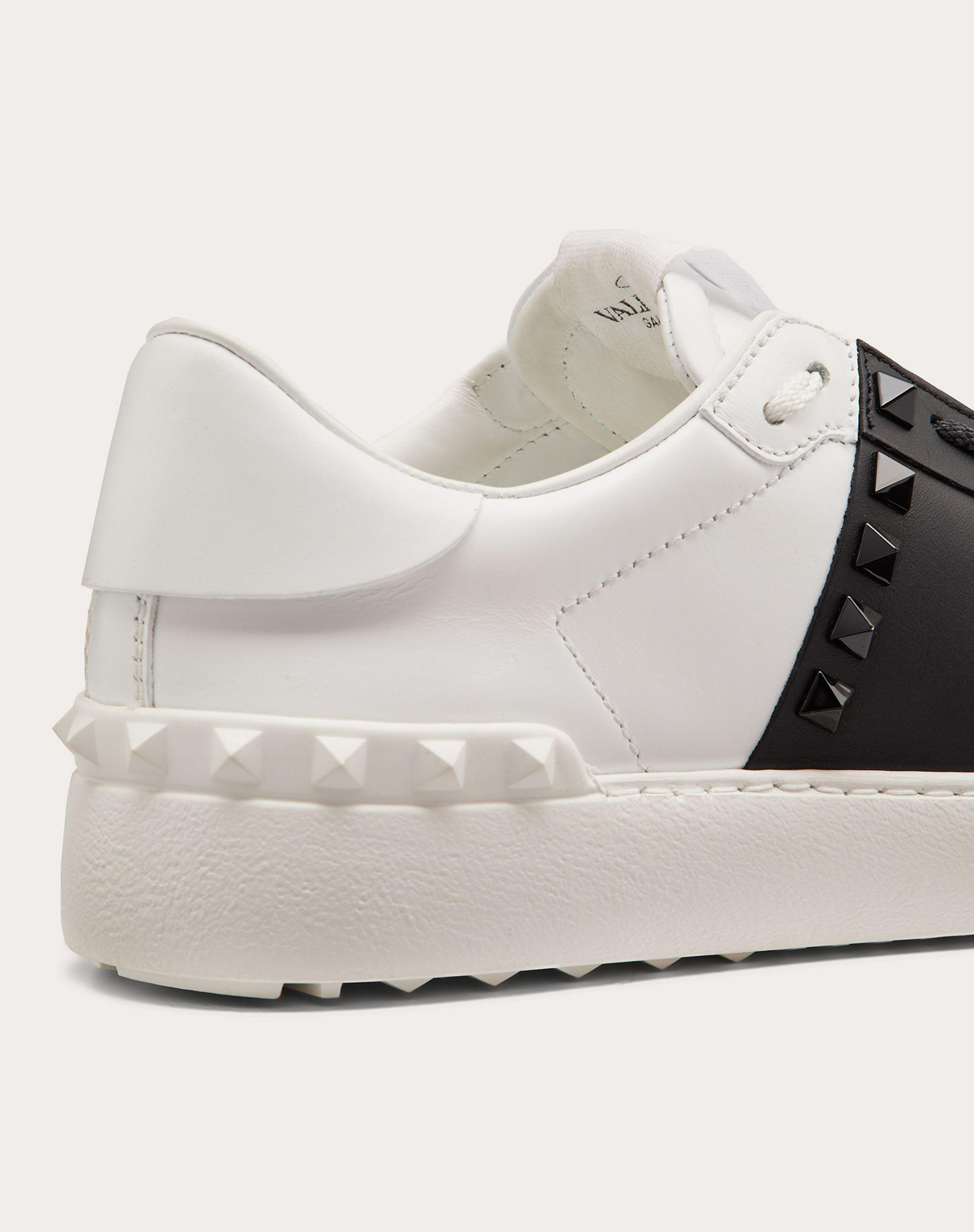 Rockstud Untitled Sneaker in Calfskin Leather with Tonal Studs 4