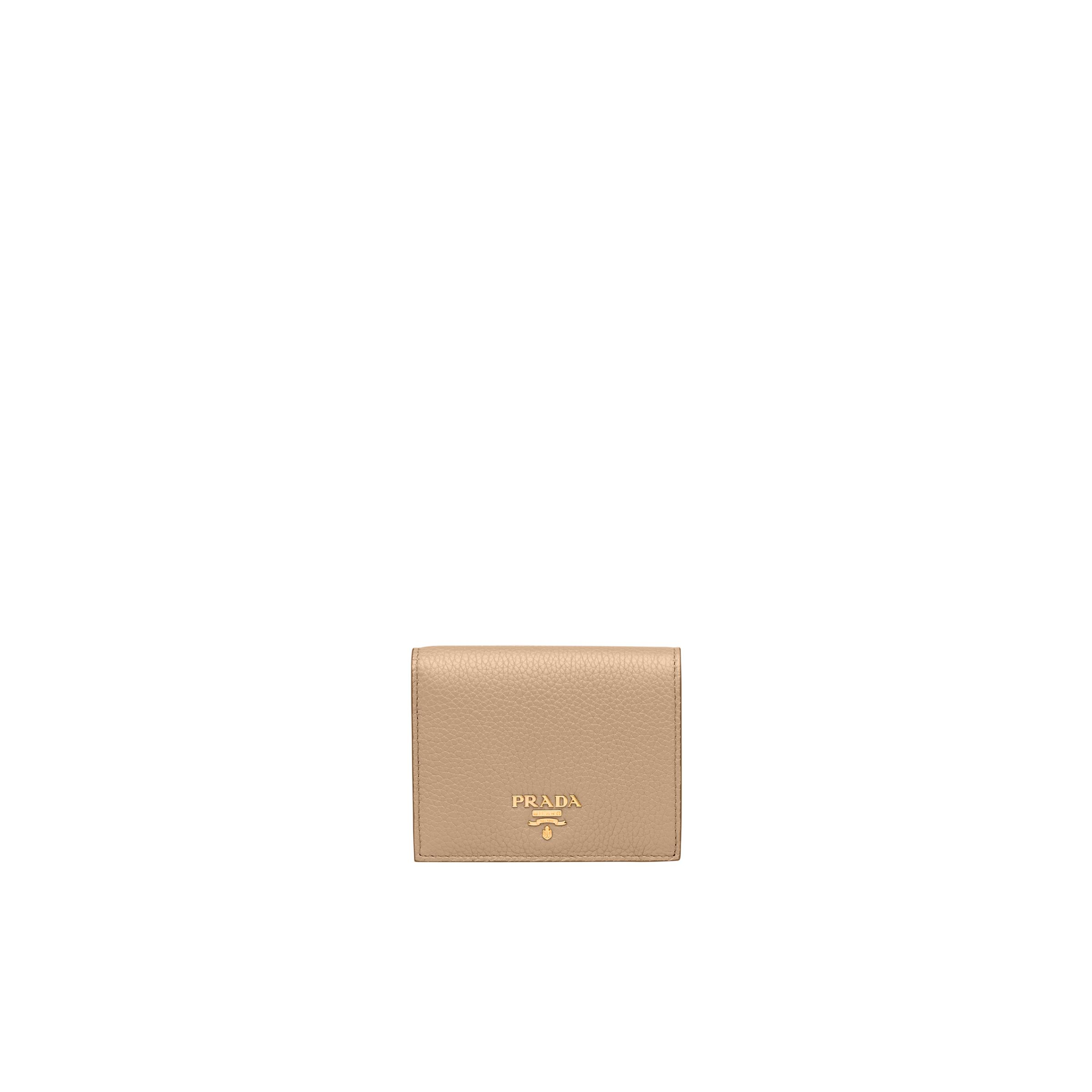 Small Leather Wallet Women Cameo Beige