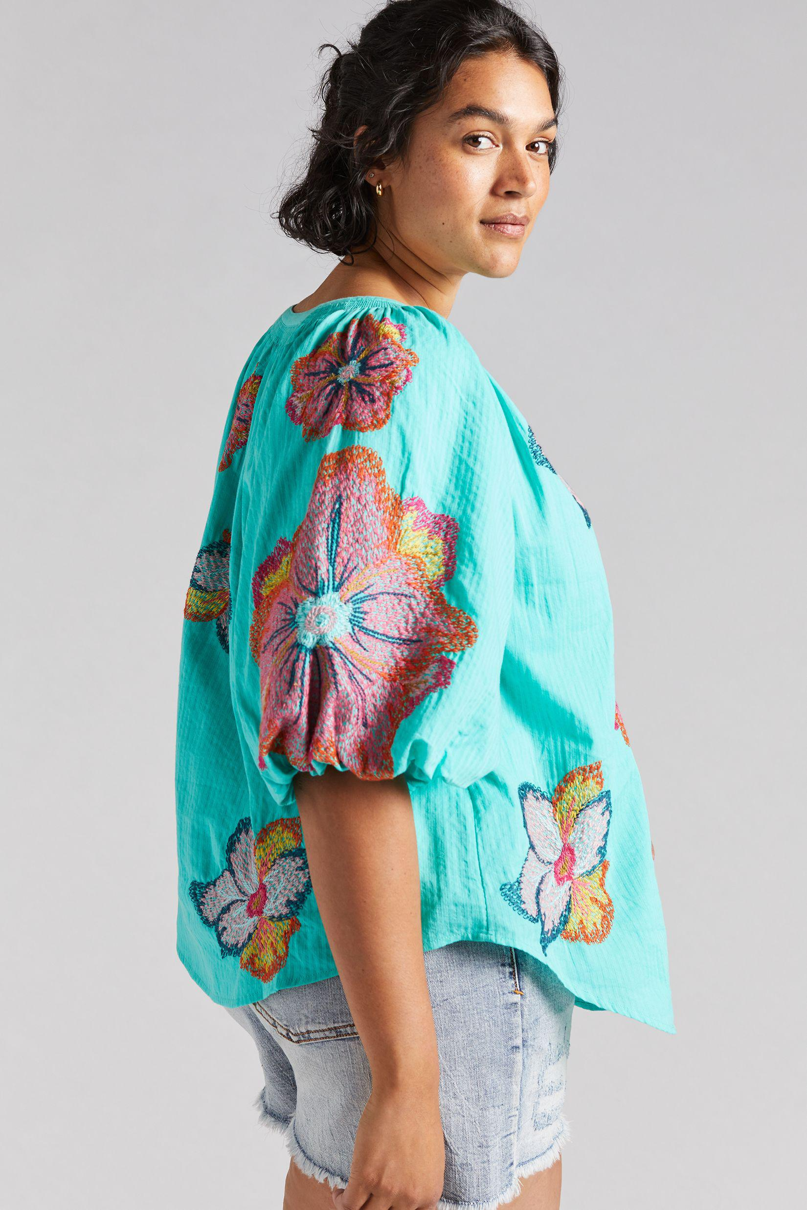 Maeve Embroidered Peasant Blouse 5
