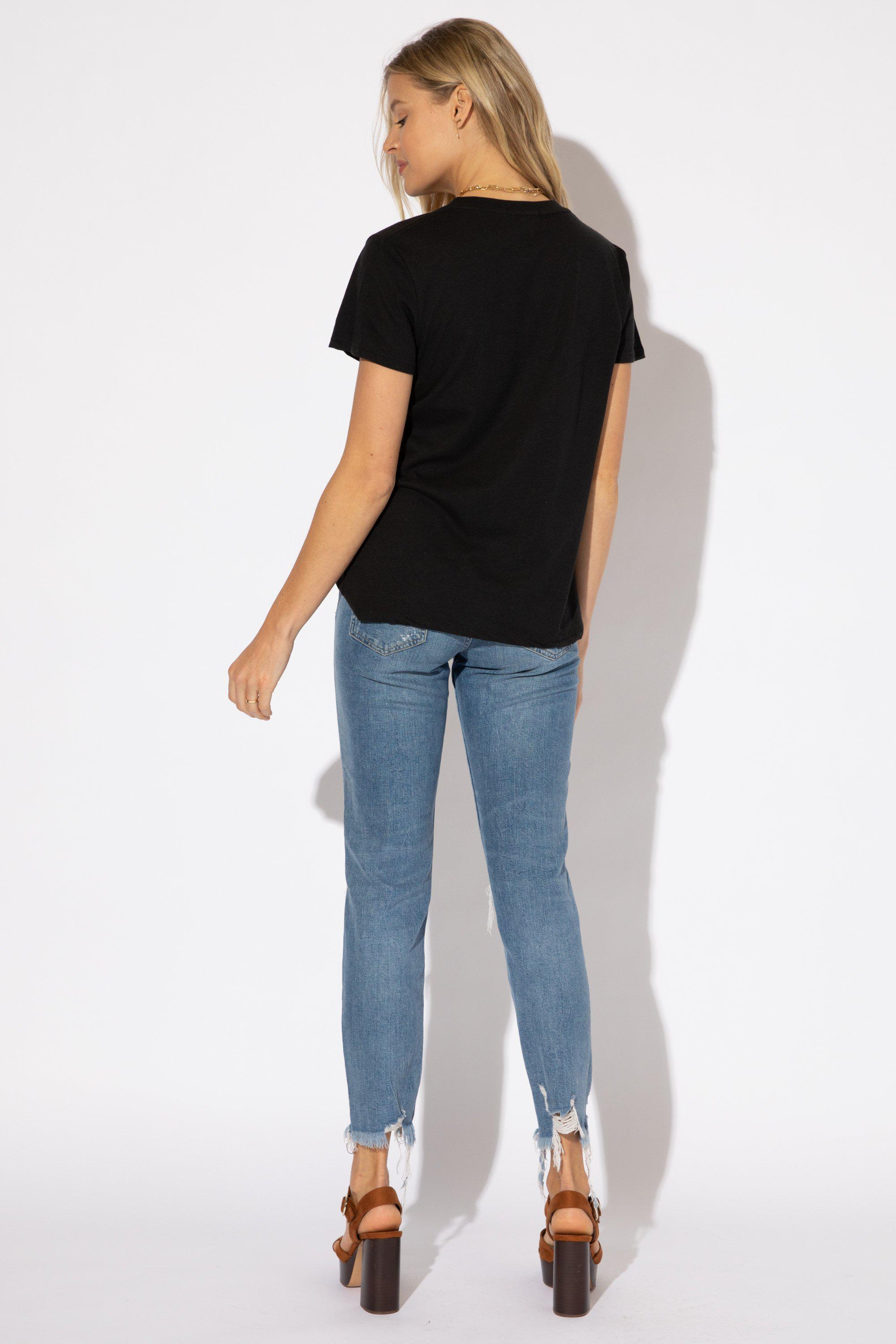 NOT TODAY EMBROIDERY LOOSE TEE 3