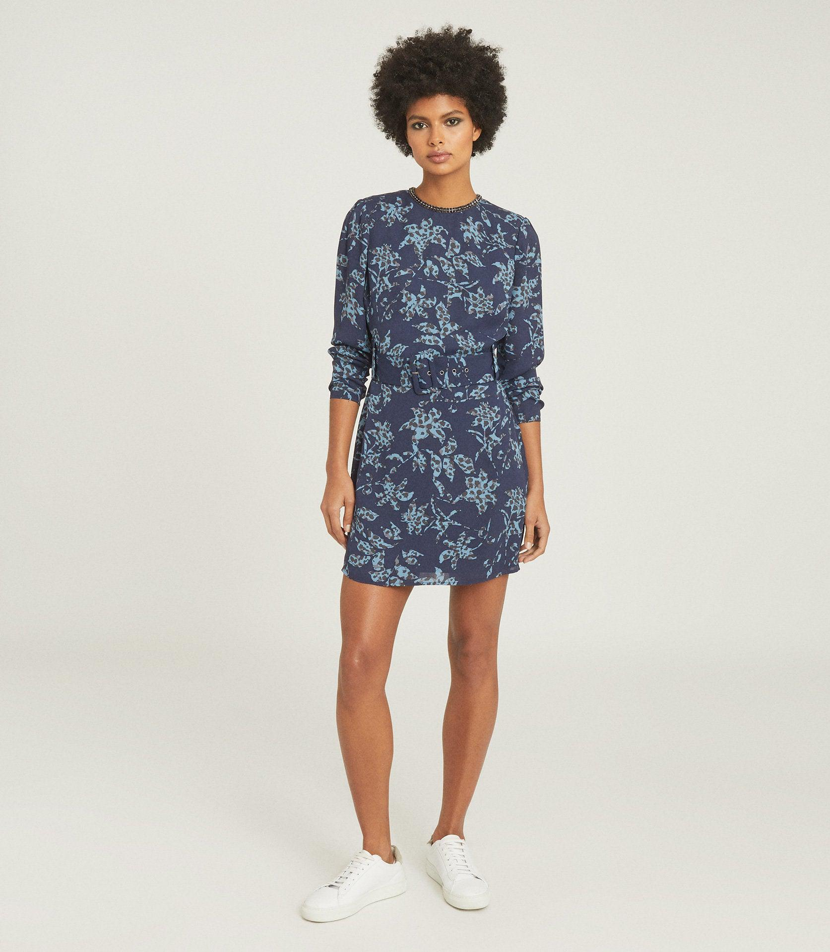 MELODY - PRINTED DRESS WITH EMBELLISHMENT DETAIL